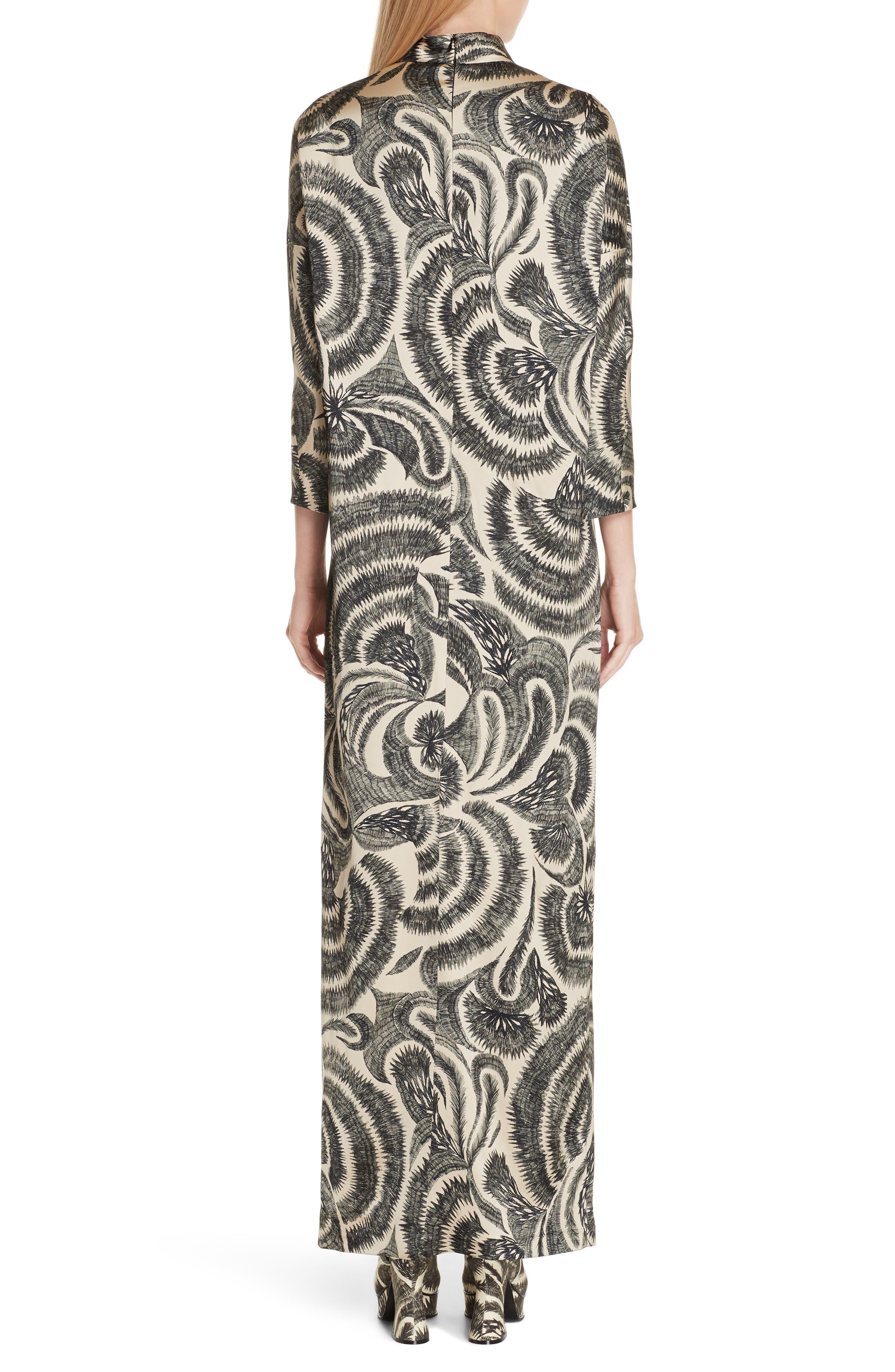 Tattoo Print Maxi Dress,                             Alternate thumbnail 2, color,                             020