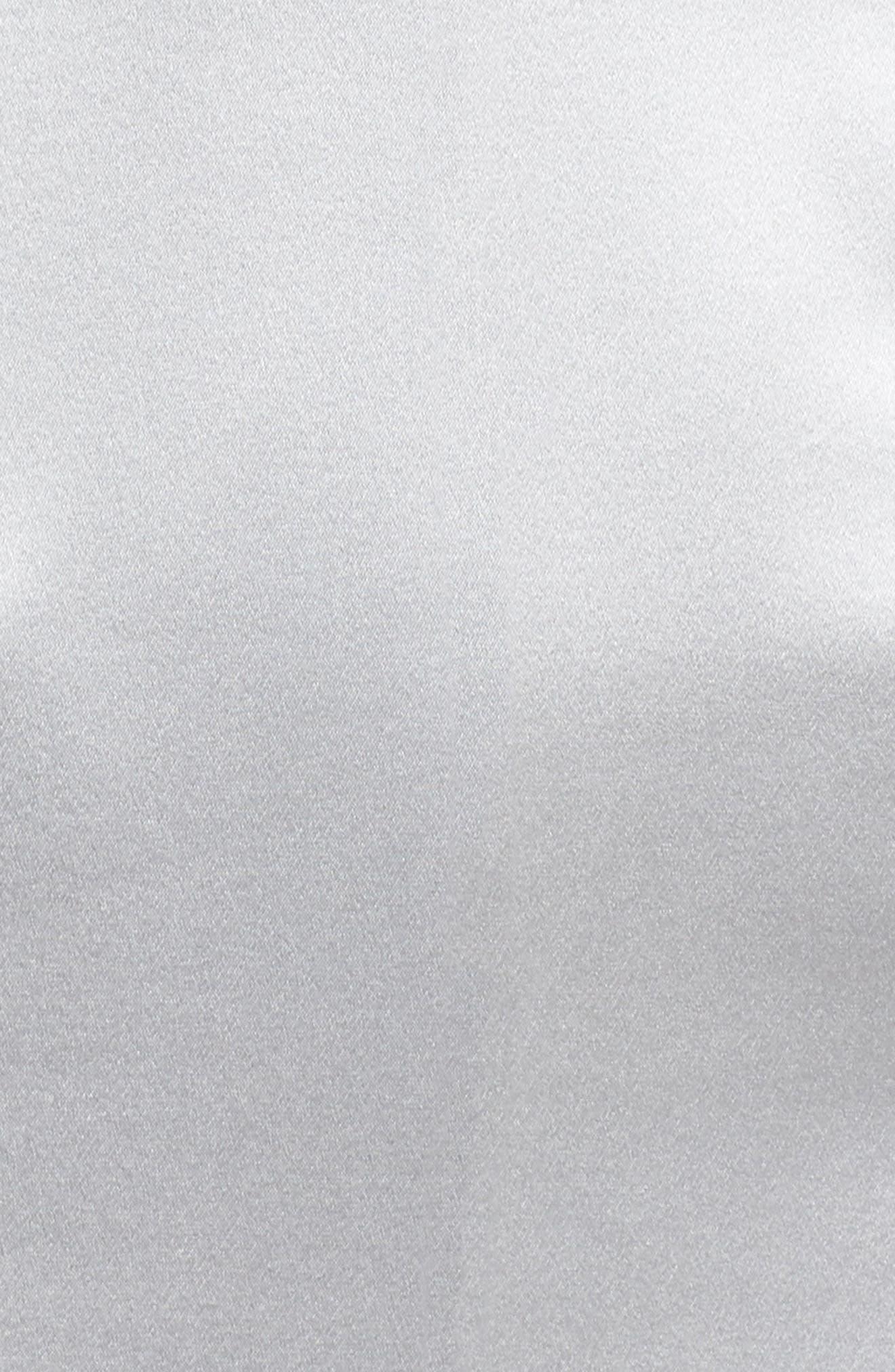 Corset Detail Satin Gown,                             Alternate thumbnail 5, color,                             MERCURY