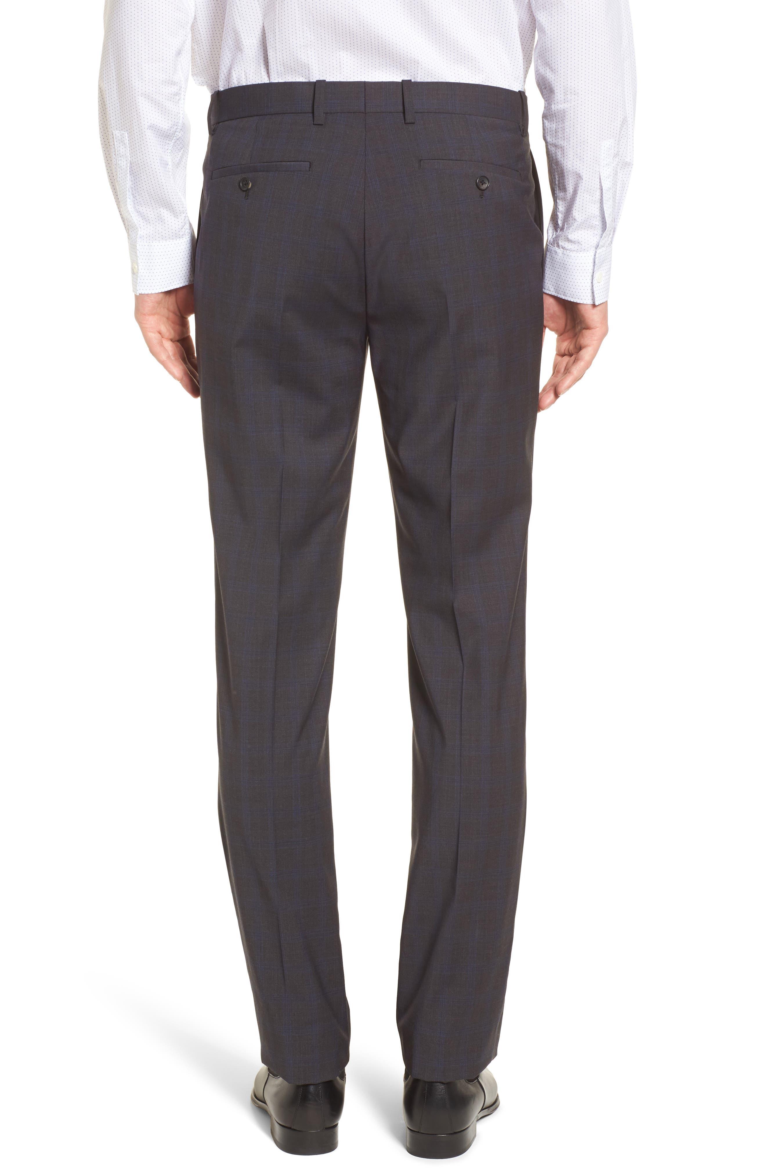 Marlo Trim Fit Tonal Plaid Trousers,                             Alternate thumbnail 2, color,                             053