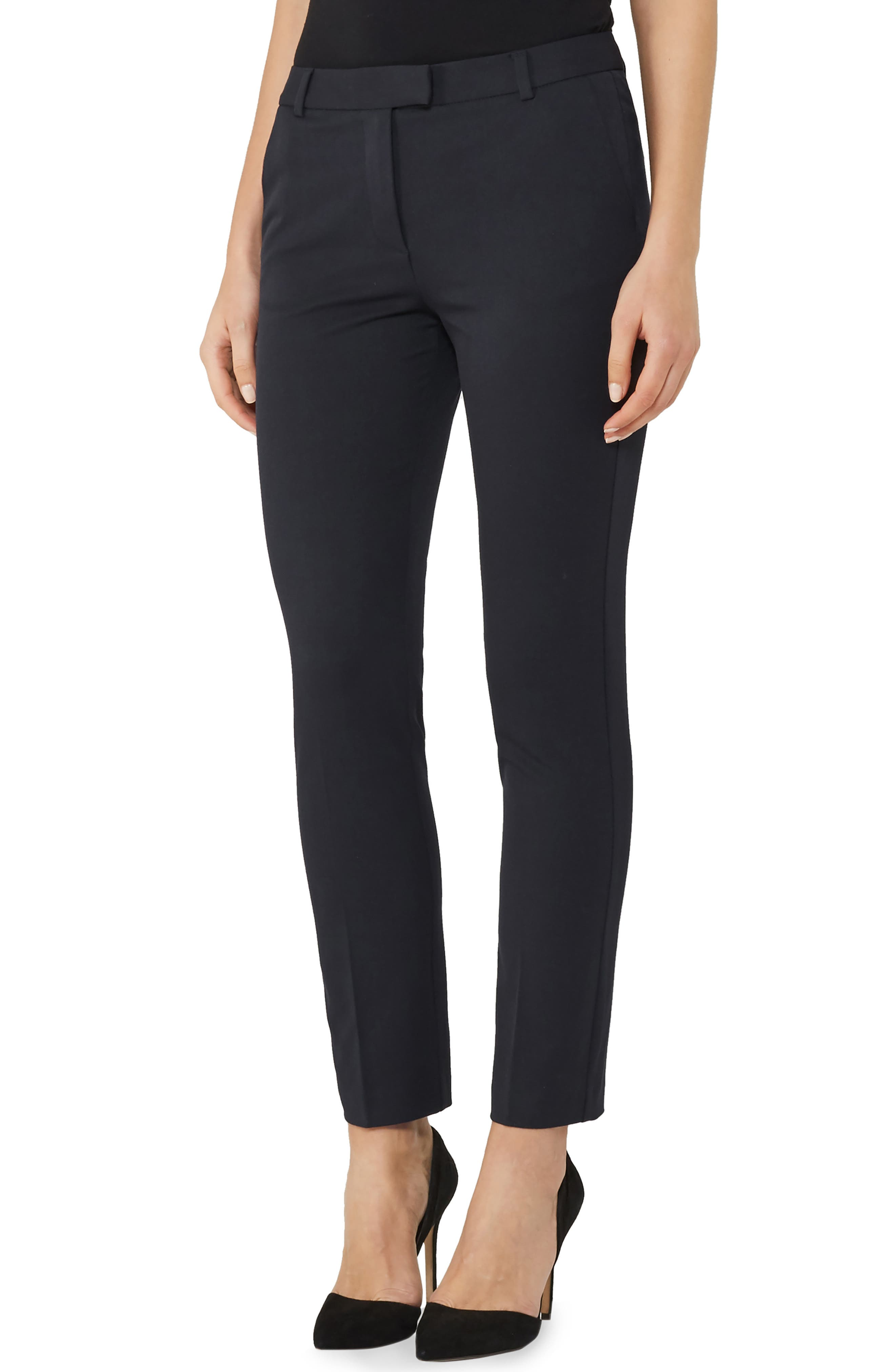 REISS Joanne Ankle Pants, Main, color, NAVY