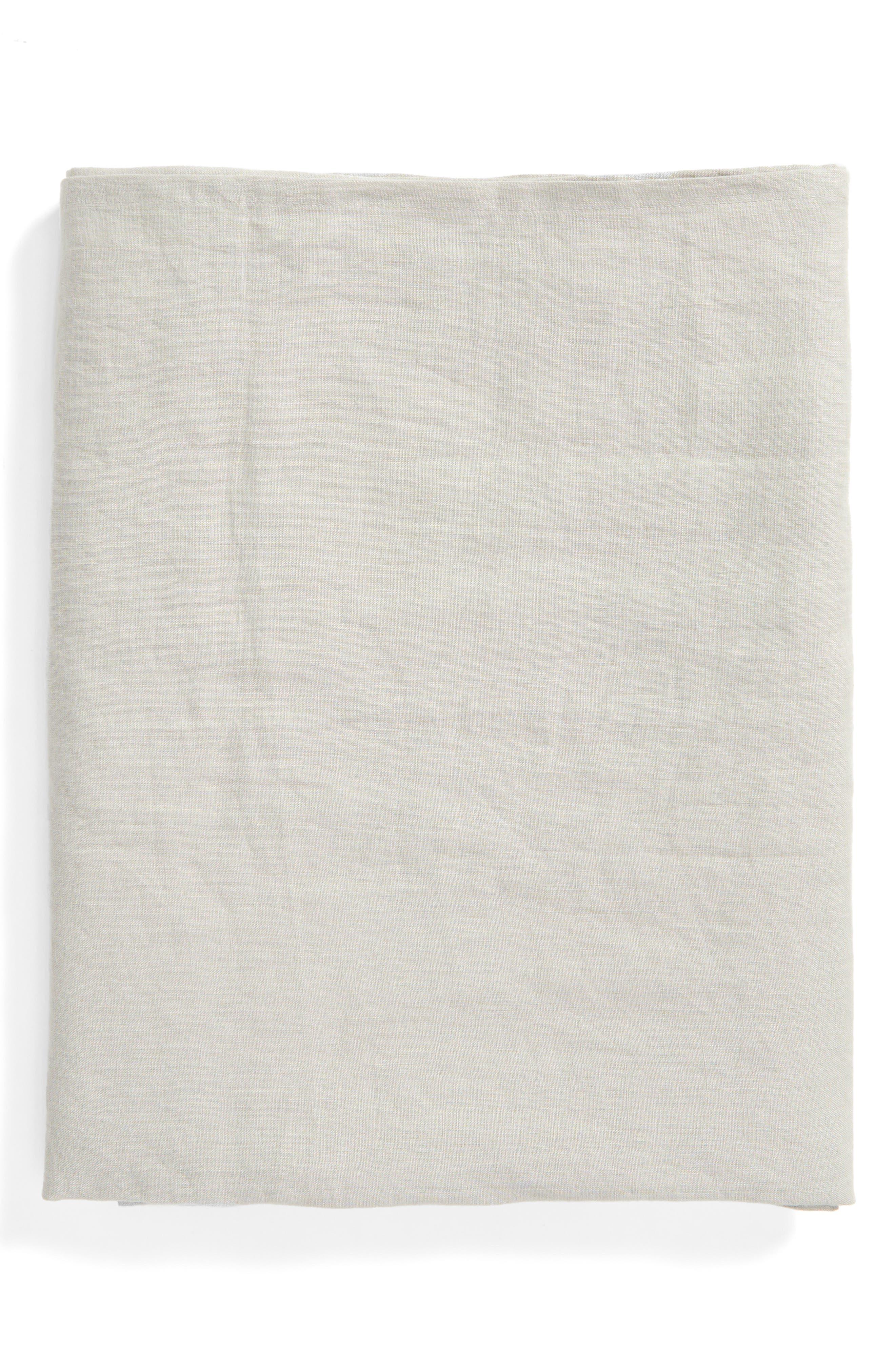 Washed Linen Tablecloth,                             Main thumbnail 1, color,