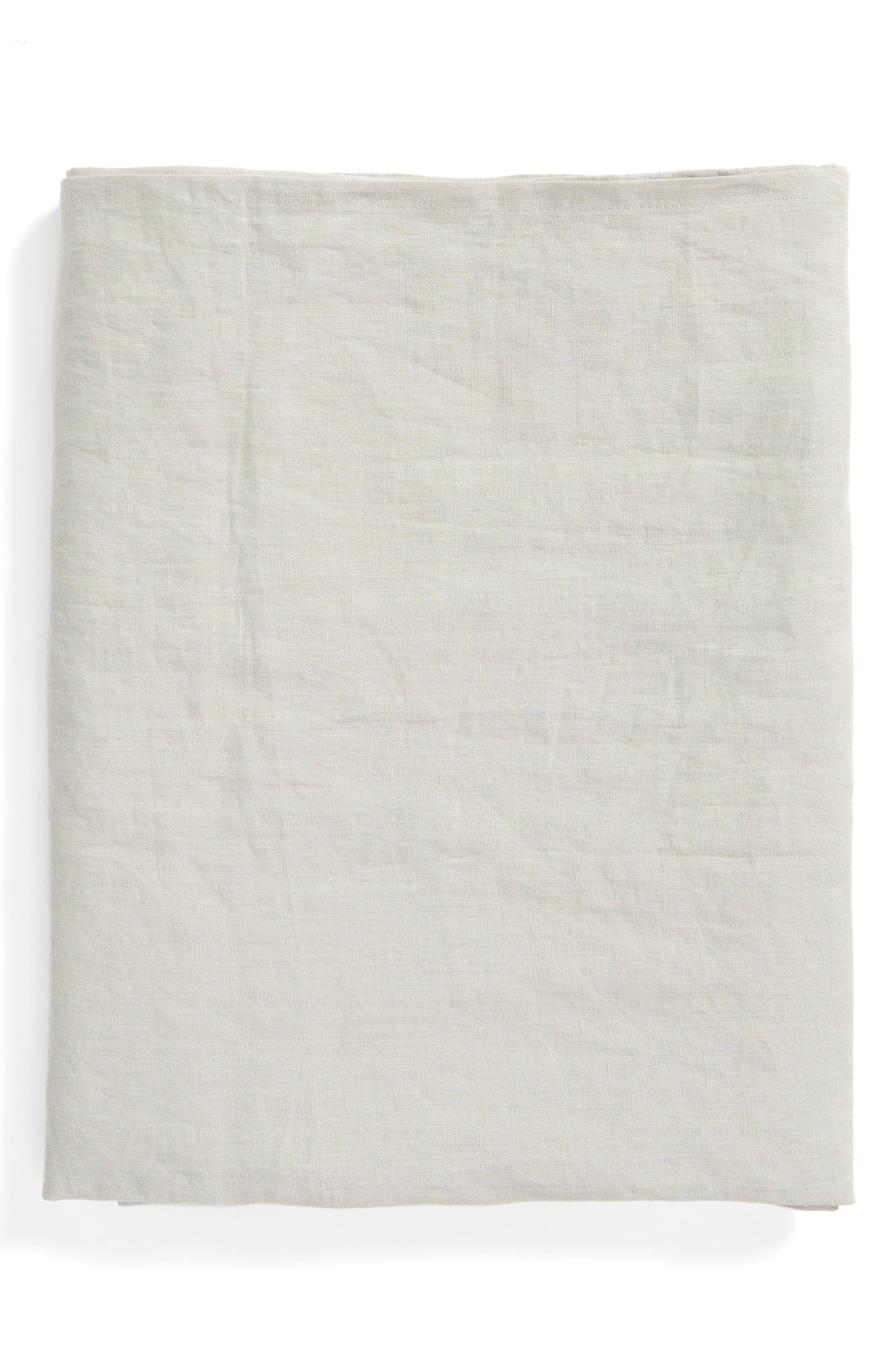 Washed Linen Tablecloth,                         Main,                         color,