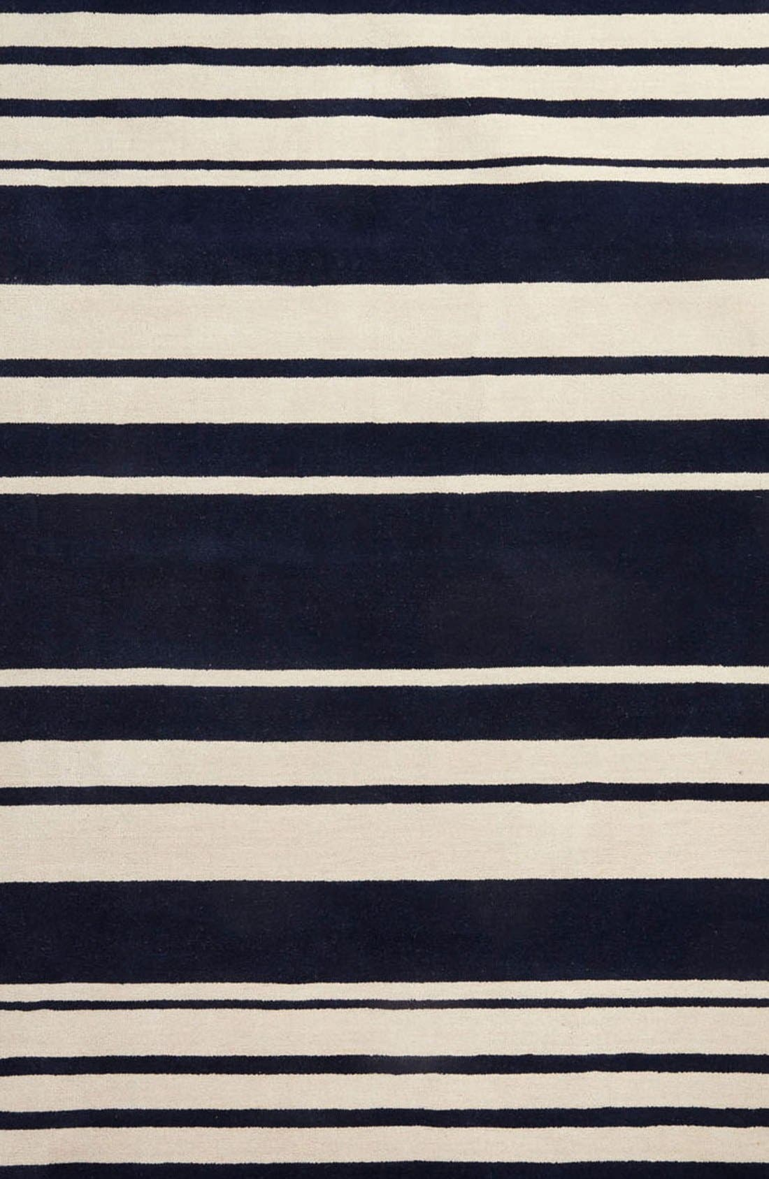 'astor stripe' wool rug,                             Alternate thumbnail 6, color,