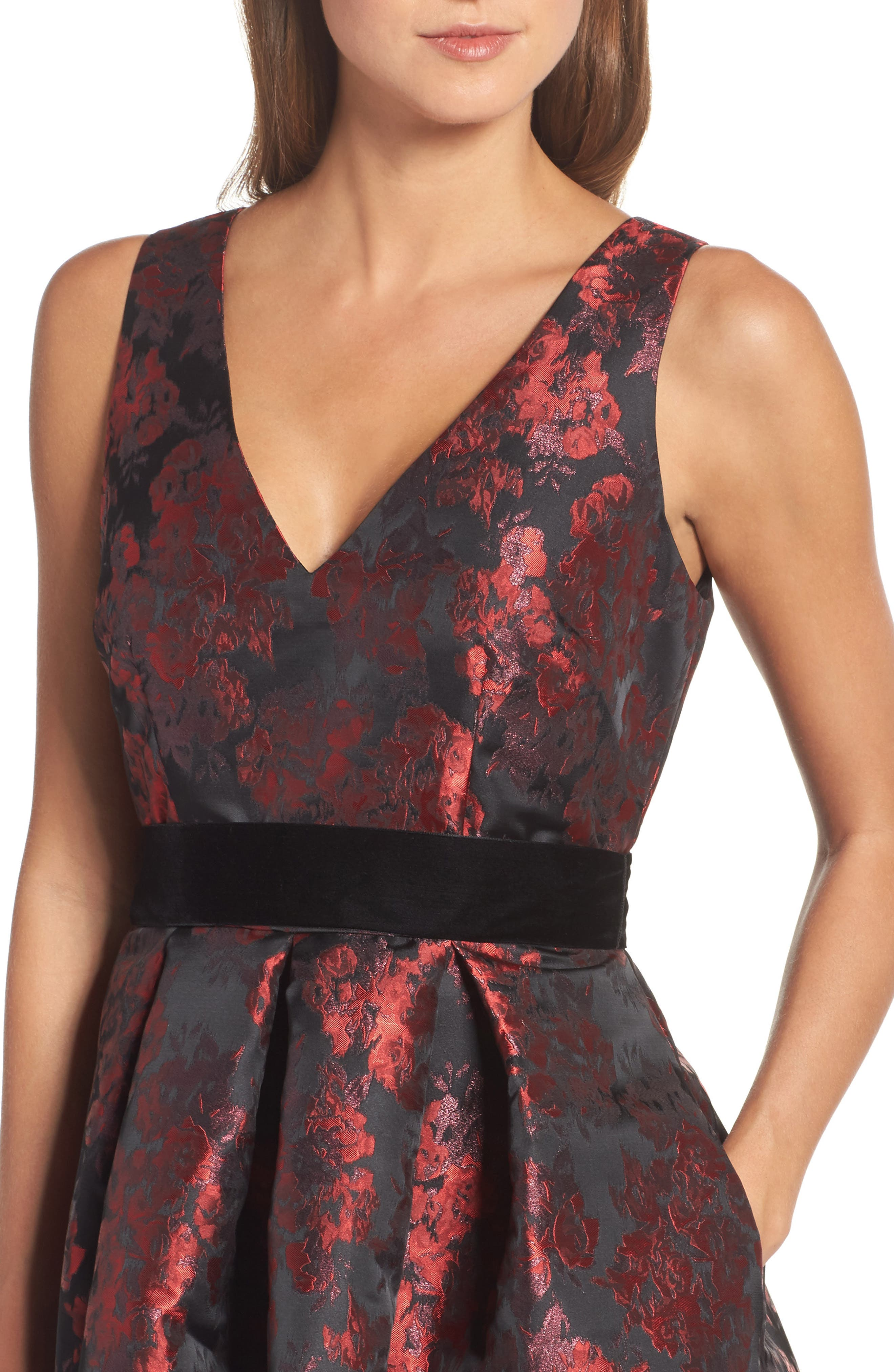 Jacquard High/Low Dress,                             Alternate thumbnail 4, color,