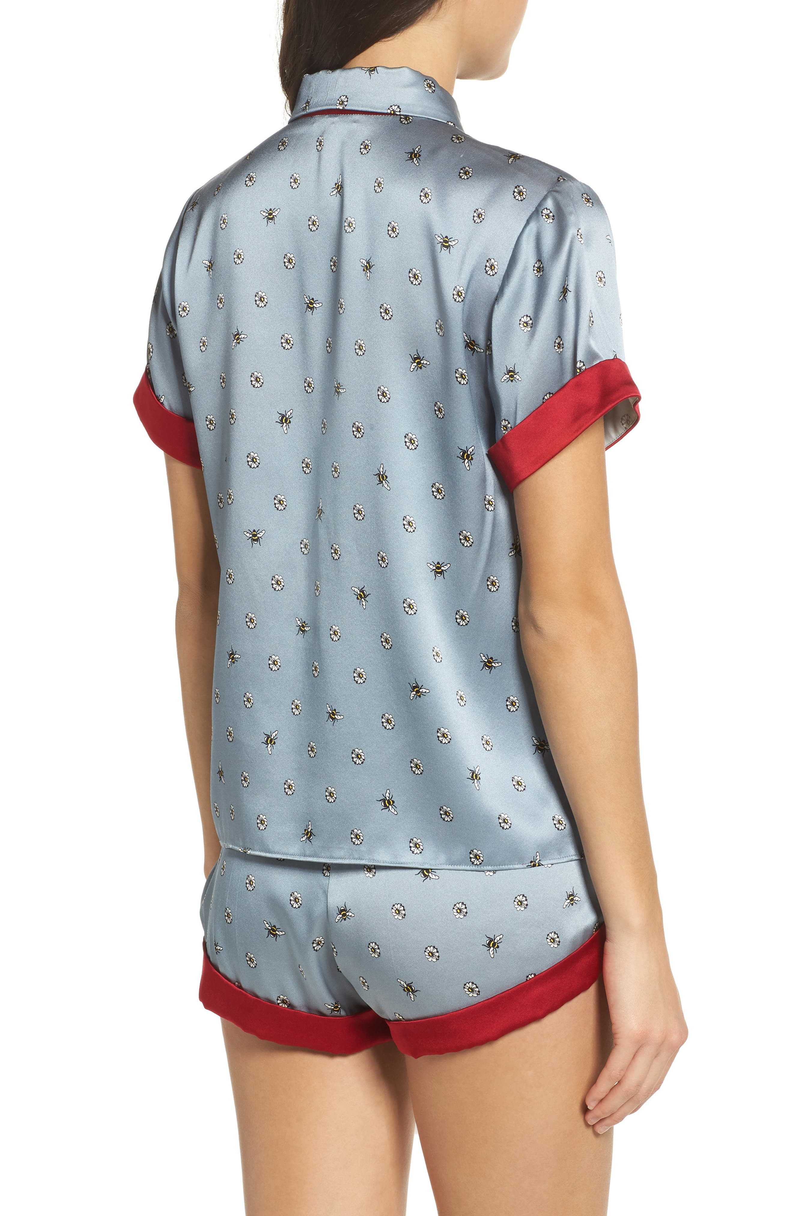 Staci Silk Pajama Top,                             Alternate thumbnail 2, color,                             490
