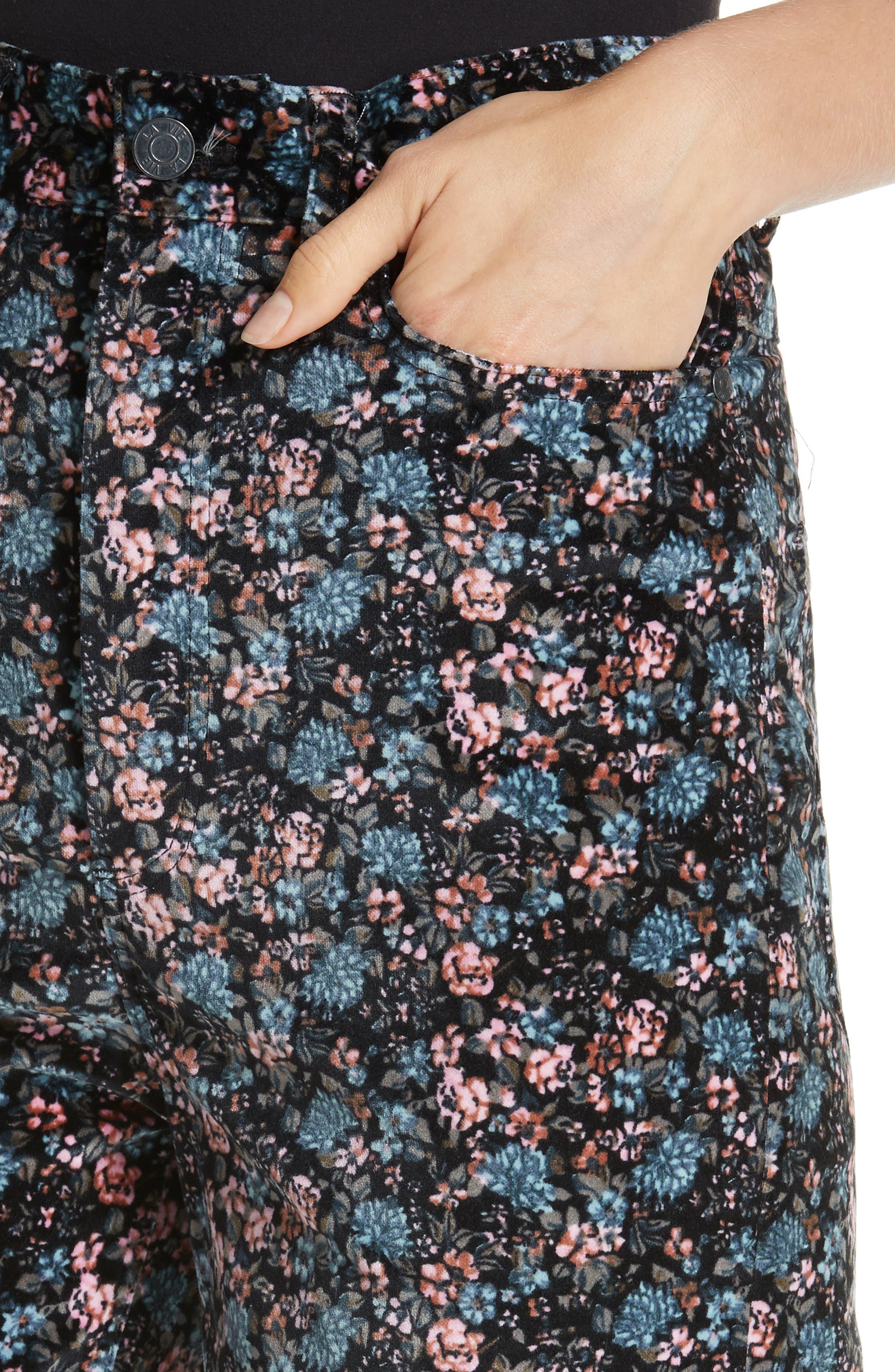 Lisette Velveteen Pants,                             Alternate thumbnail 4, color,                             014
