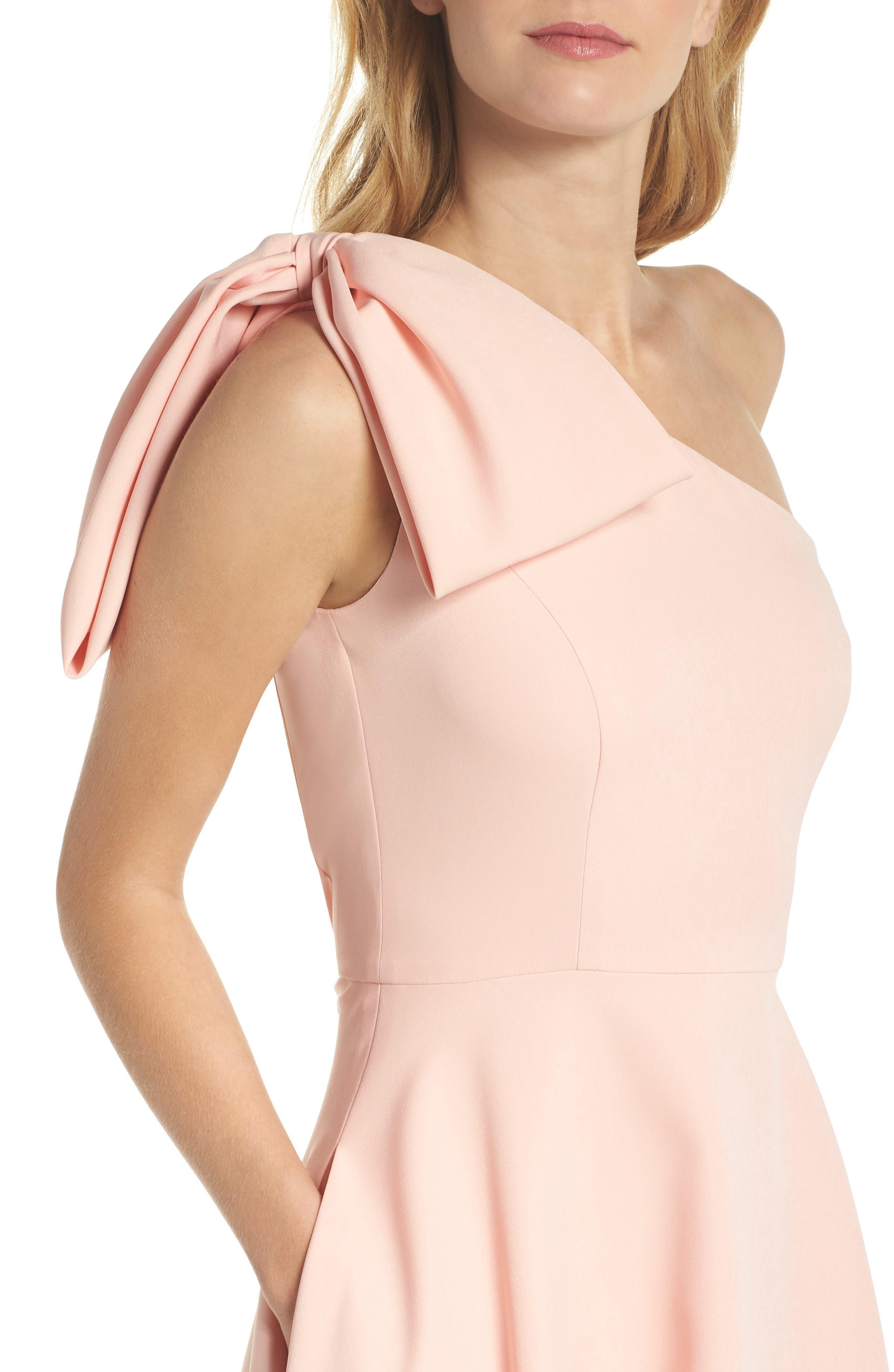 Yvonne Dream Crepe One-Shoulder Dress,                             Alternate thumbnail 9, color,