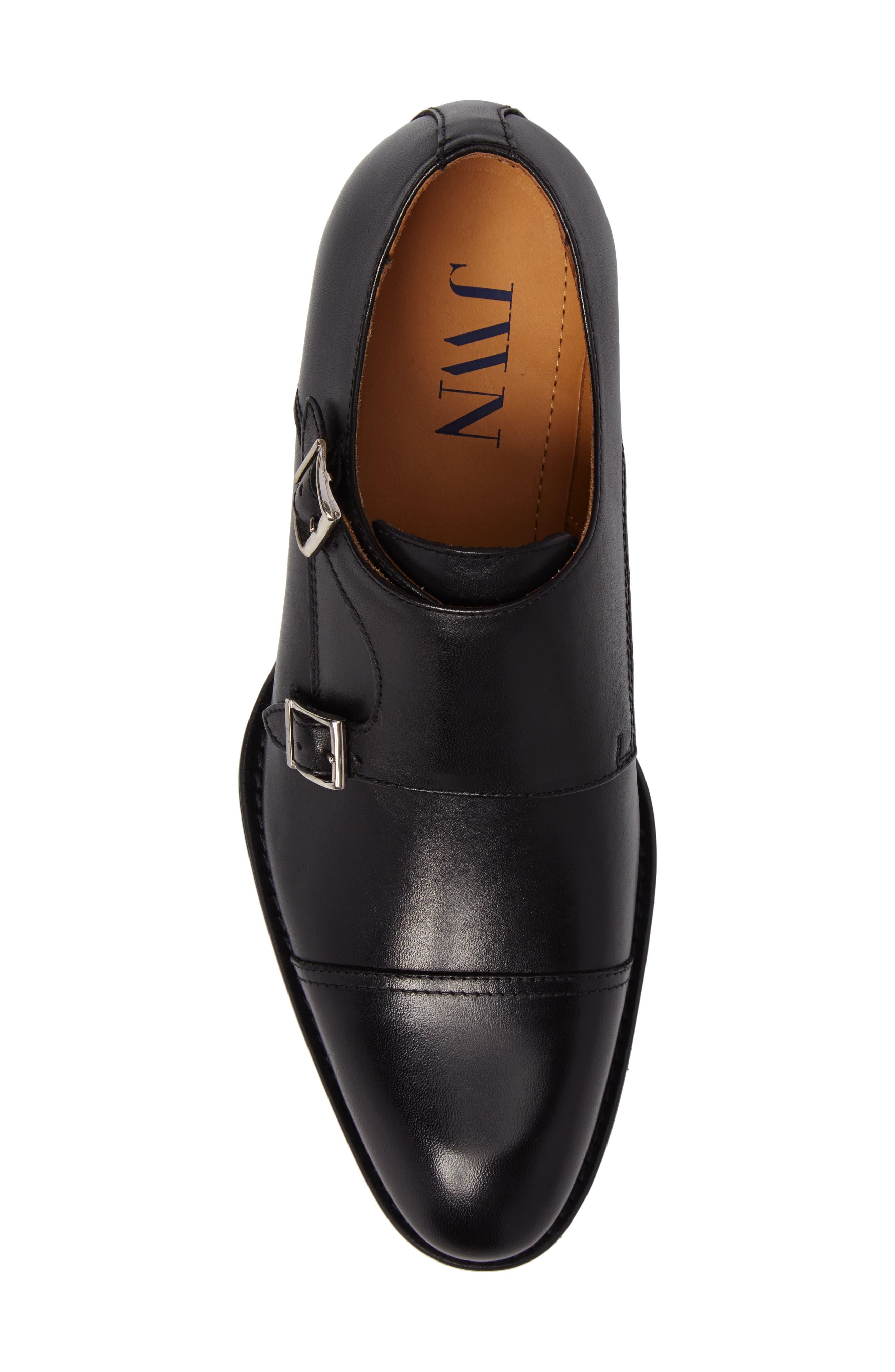 Stratton Double Monk Strap Shoe,                             Alternate thumbnail 5, color,                             001