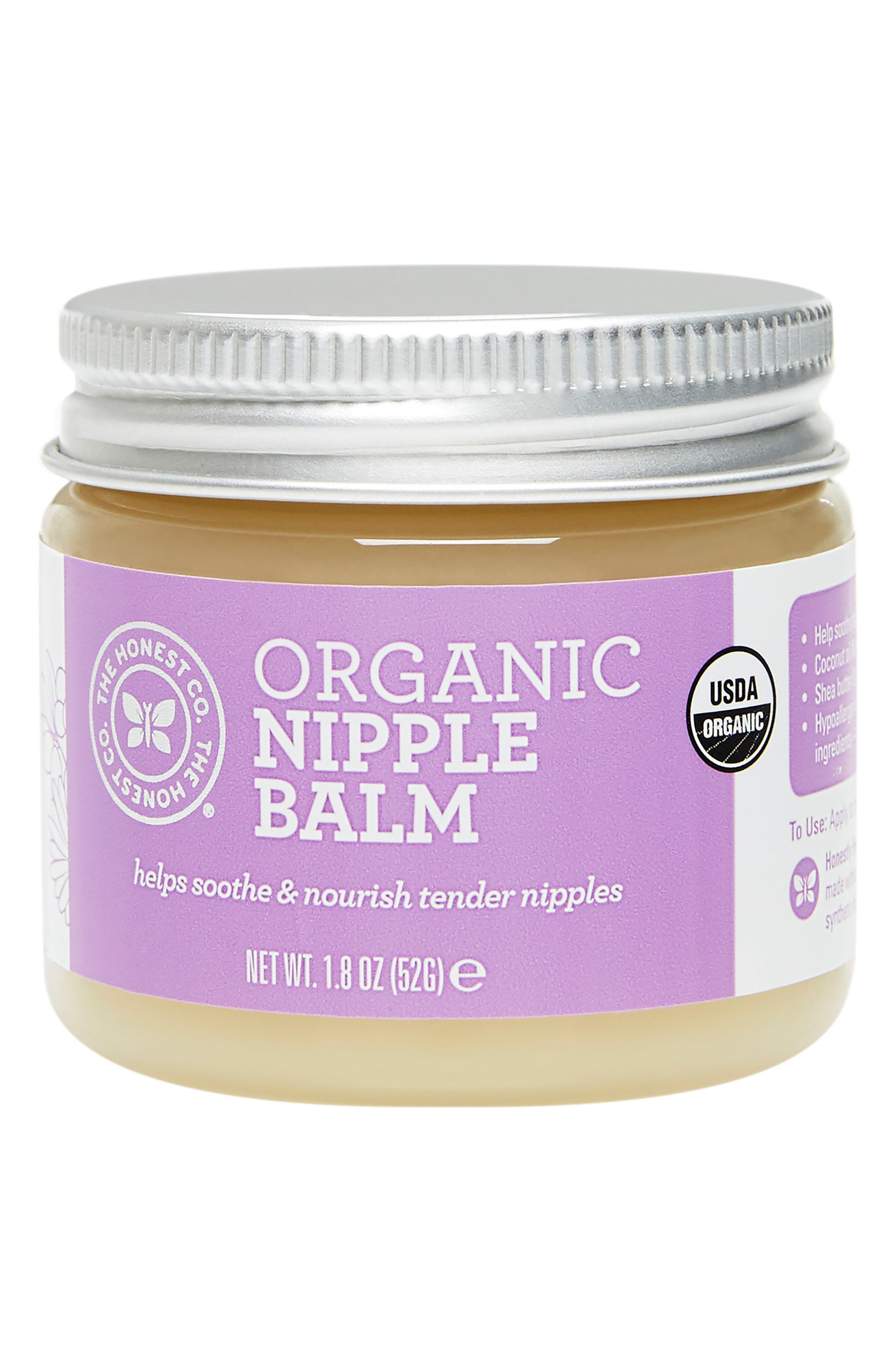 THE HONEST COMPANY Organic Nipple Balm, Main, color, 100