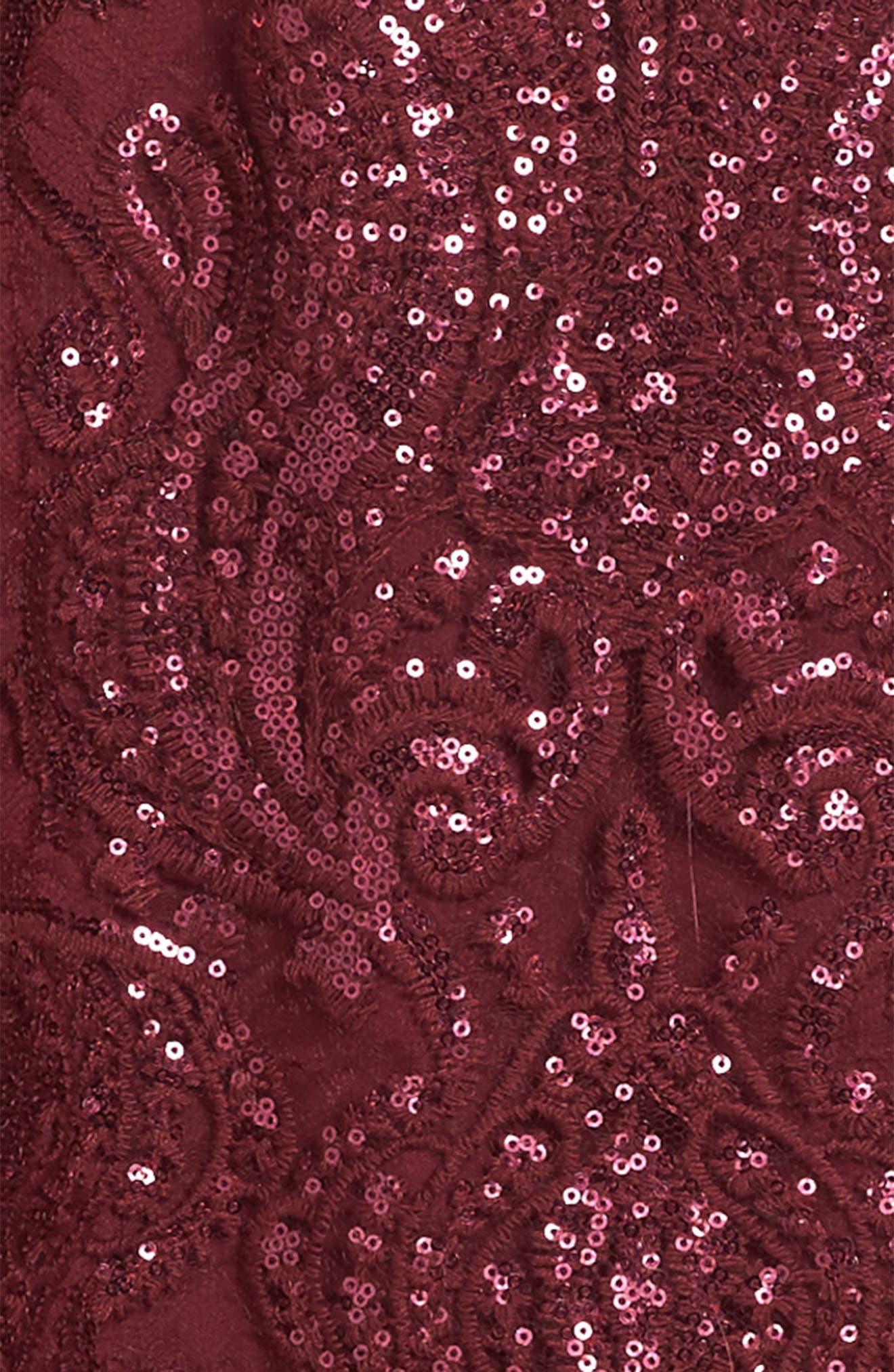 Scalloped Sequin Embellished Shift Dress,                             Alternate thumbnail 3, color,                             600