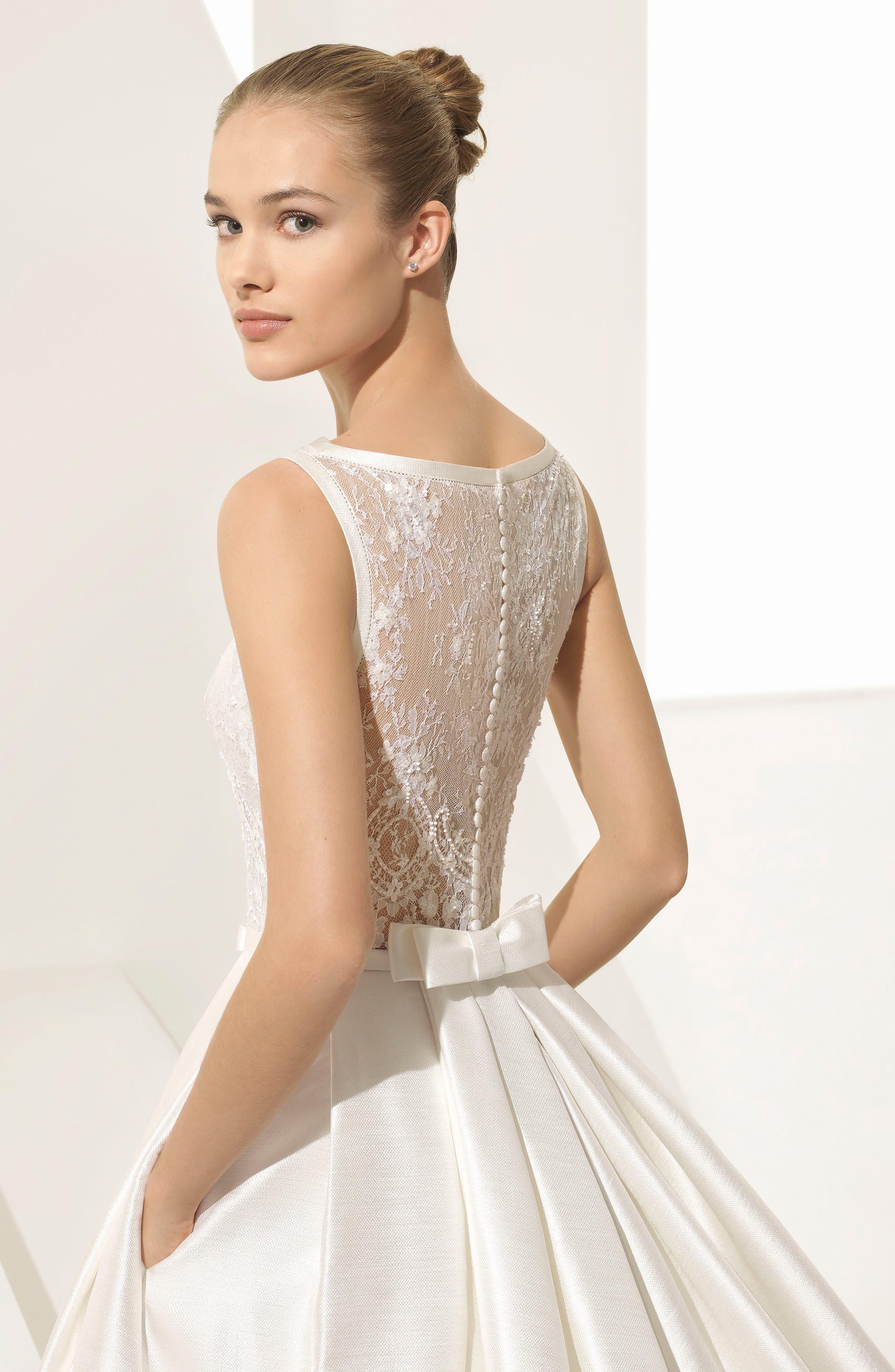Rosa Clara Couture Parker Silk Blend Ballgown,                             Alternate thumbnail 4, color,                             900