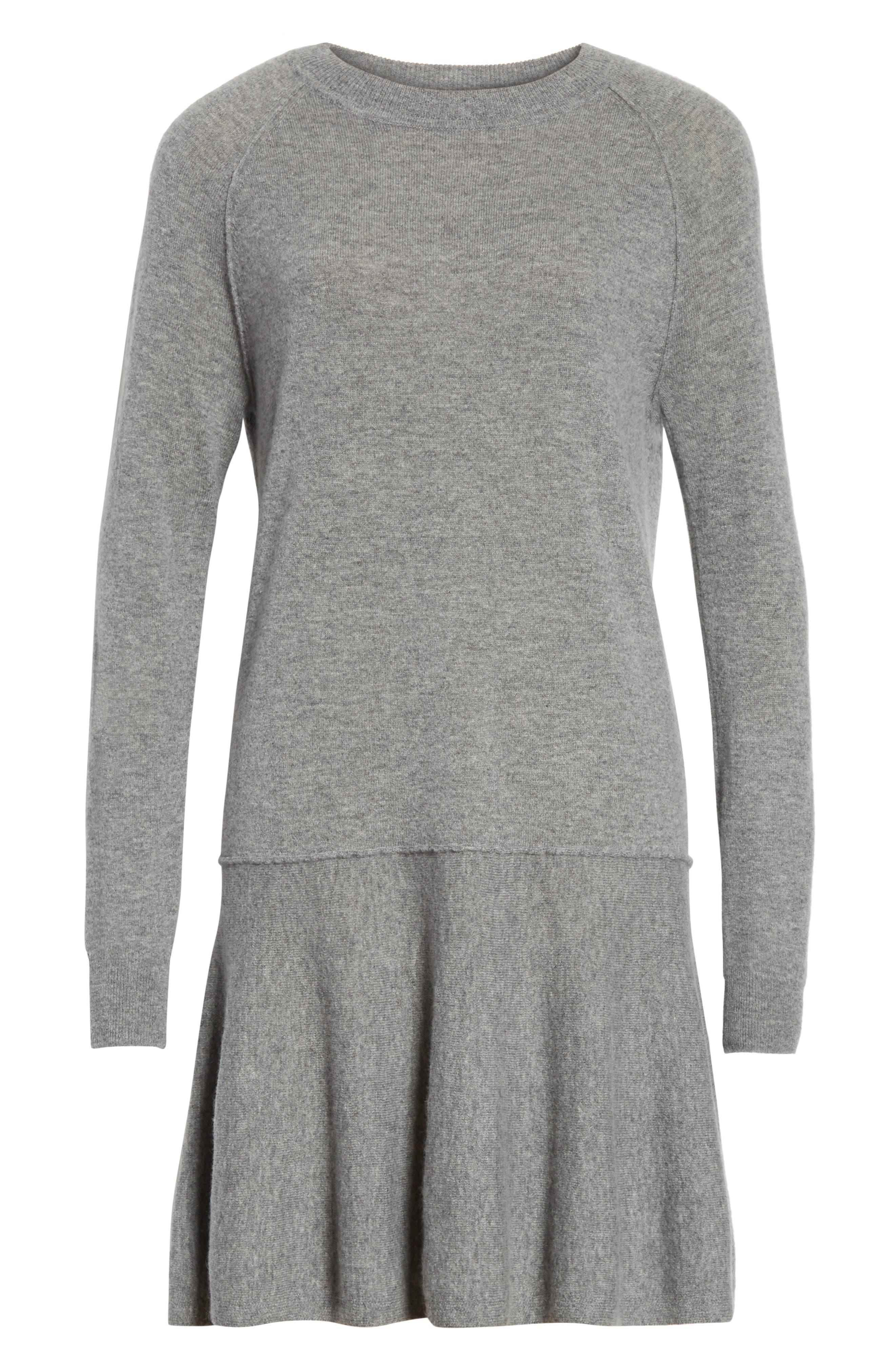 Cashmere Drop Waist Sweater Dress,                             Alternate thumbnail 6, color,                             027