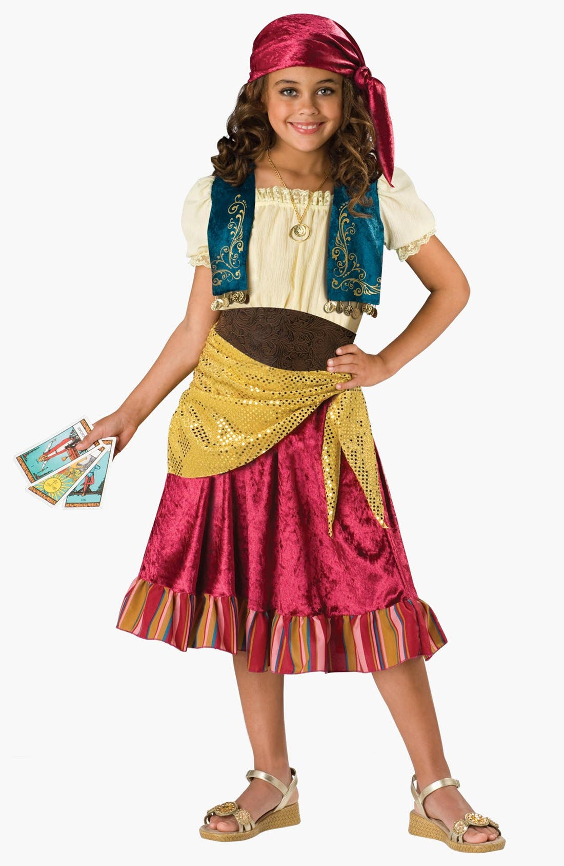 'Gypsy' Dress, Vest, Belt & Head Scarf,                         Main,                         color, 500