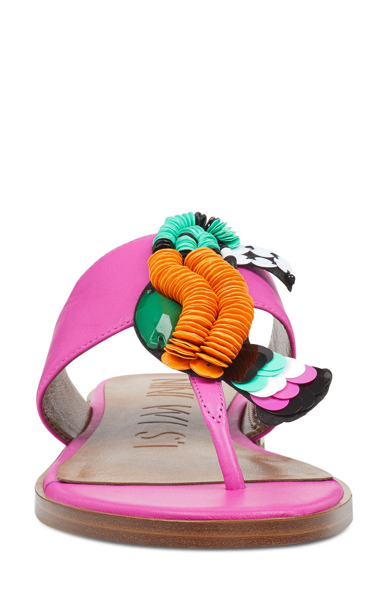 Roseriver Sandal,                             Alternate thumbnail 4, color,                             PINK LEATHER