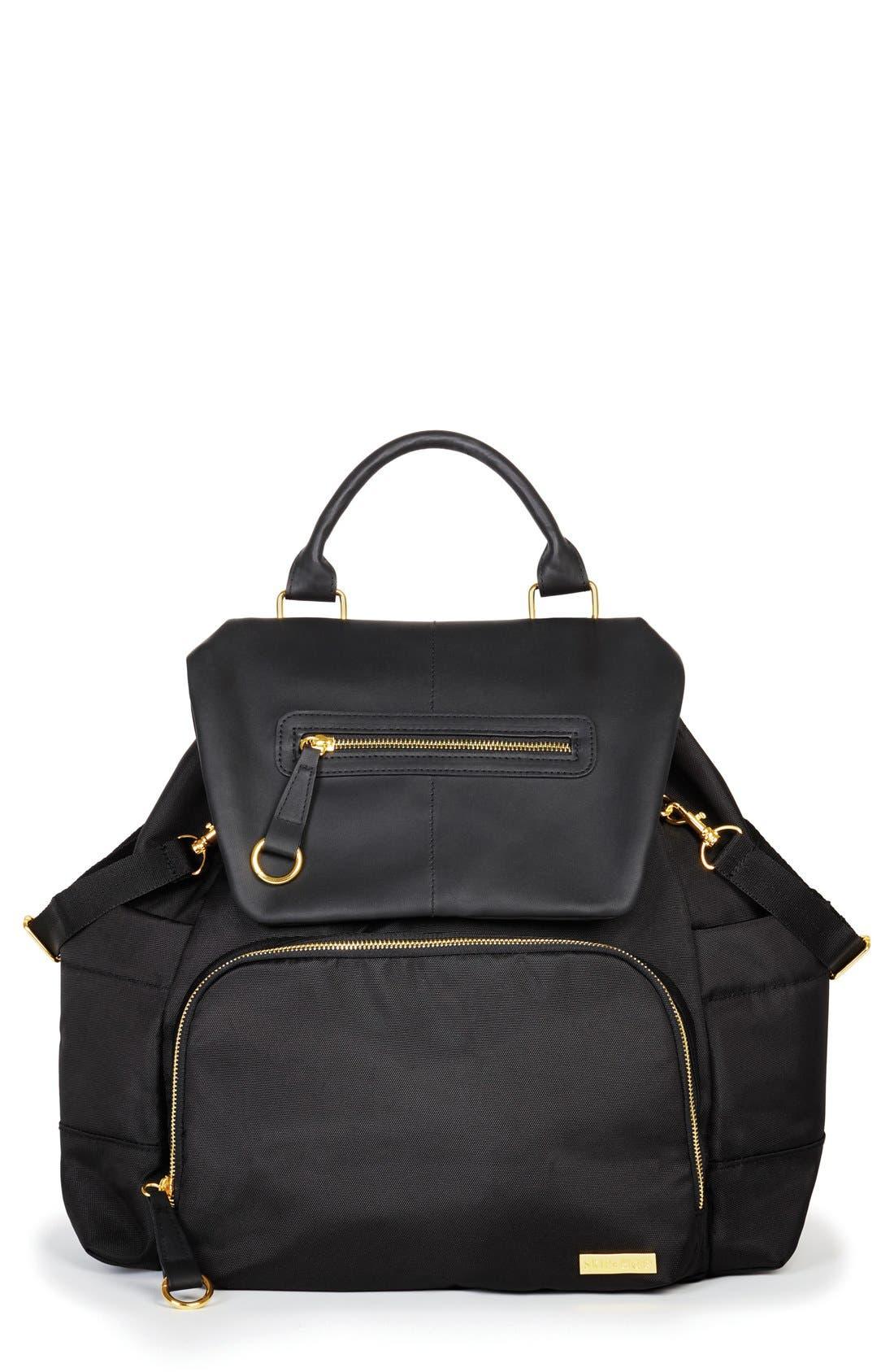 'Chelsea' Diaper Bag Backpack,                         Main,                         color, BLACK