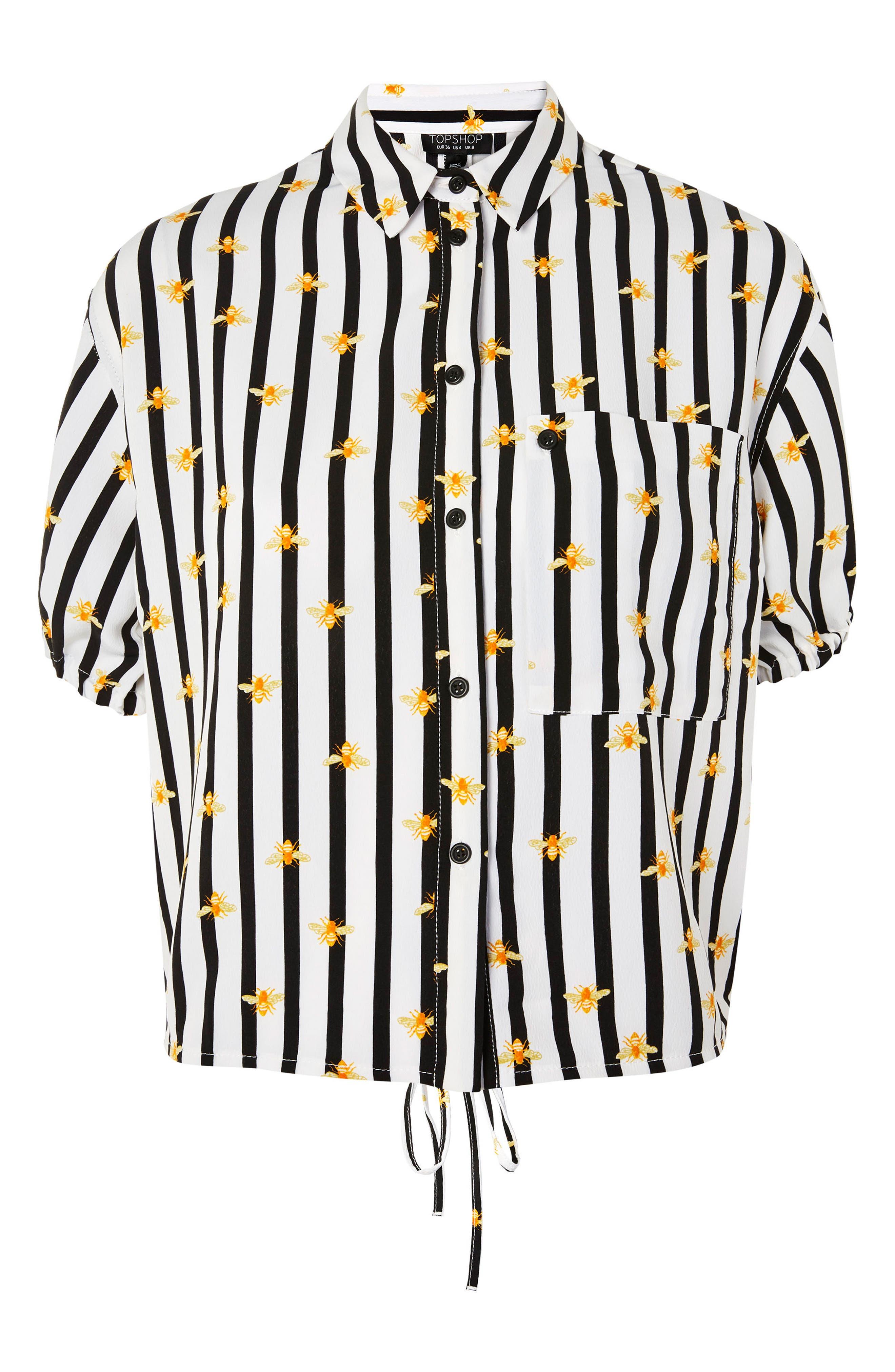 Alexa Bee Stripe Blouse,                             Alternate thumbnail 3, color,                             002