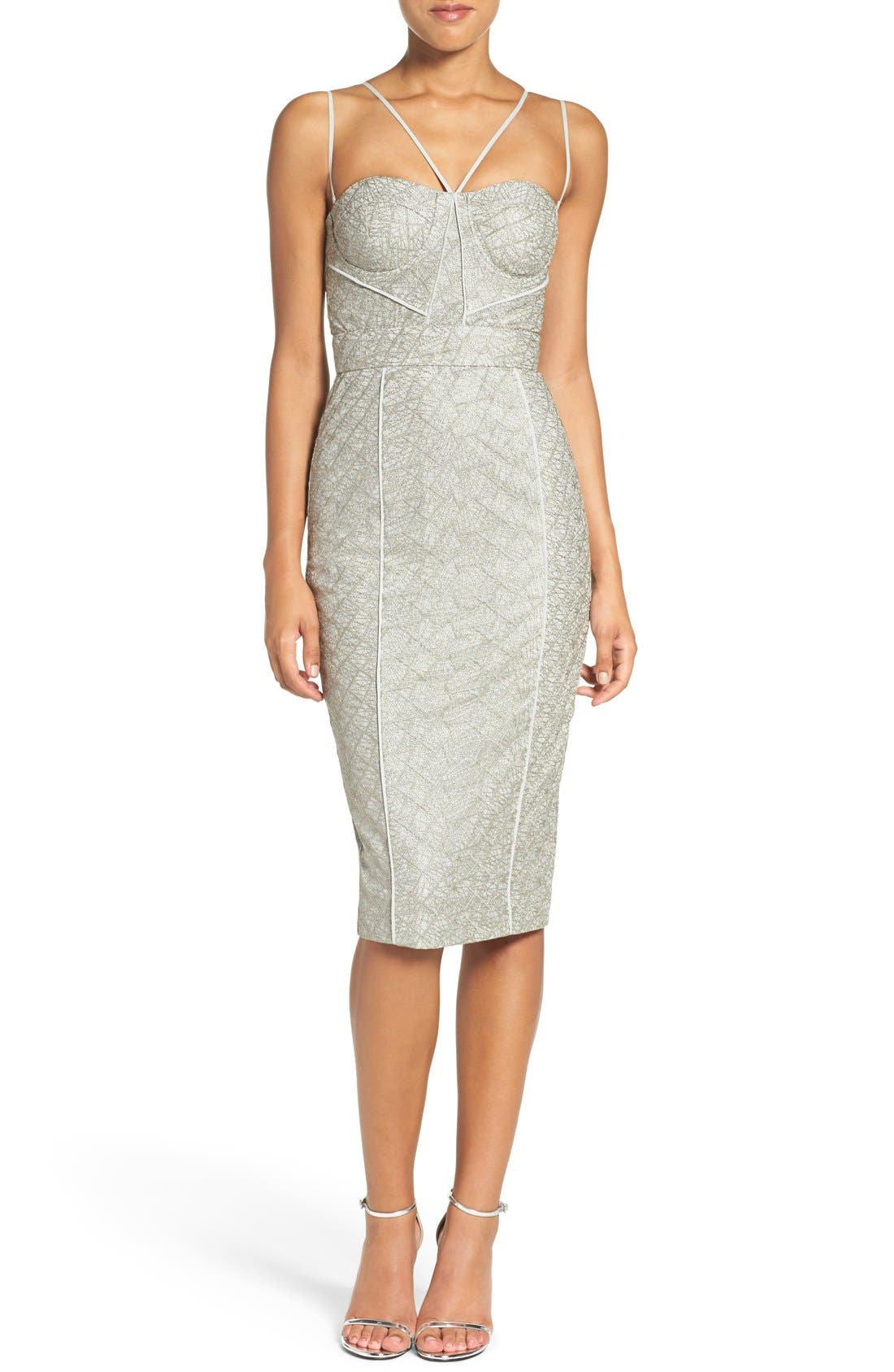 'Milly' Embroidered Mesh Midi Dress,                             Alternate thumbnail 5, color,                             230