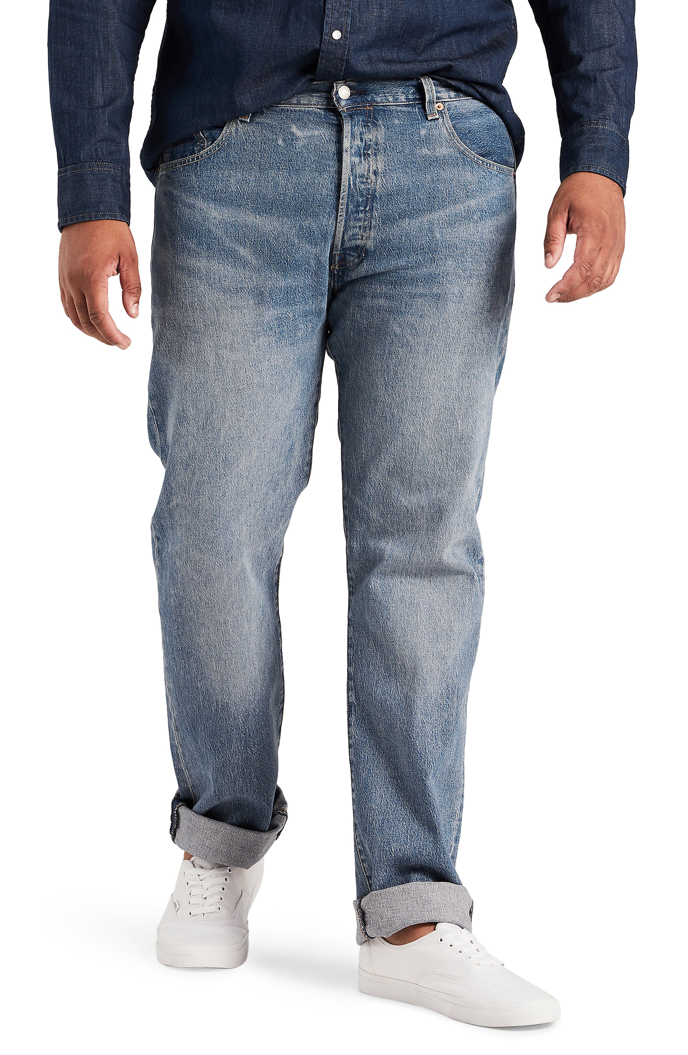 LEVI'S<SUP>®</SUP>,                             501<sup>®</sup> Straight Leg Jeans,                             Main thumbnail 1, color,                             BAYWATER