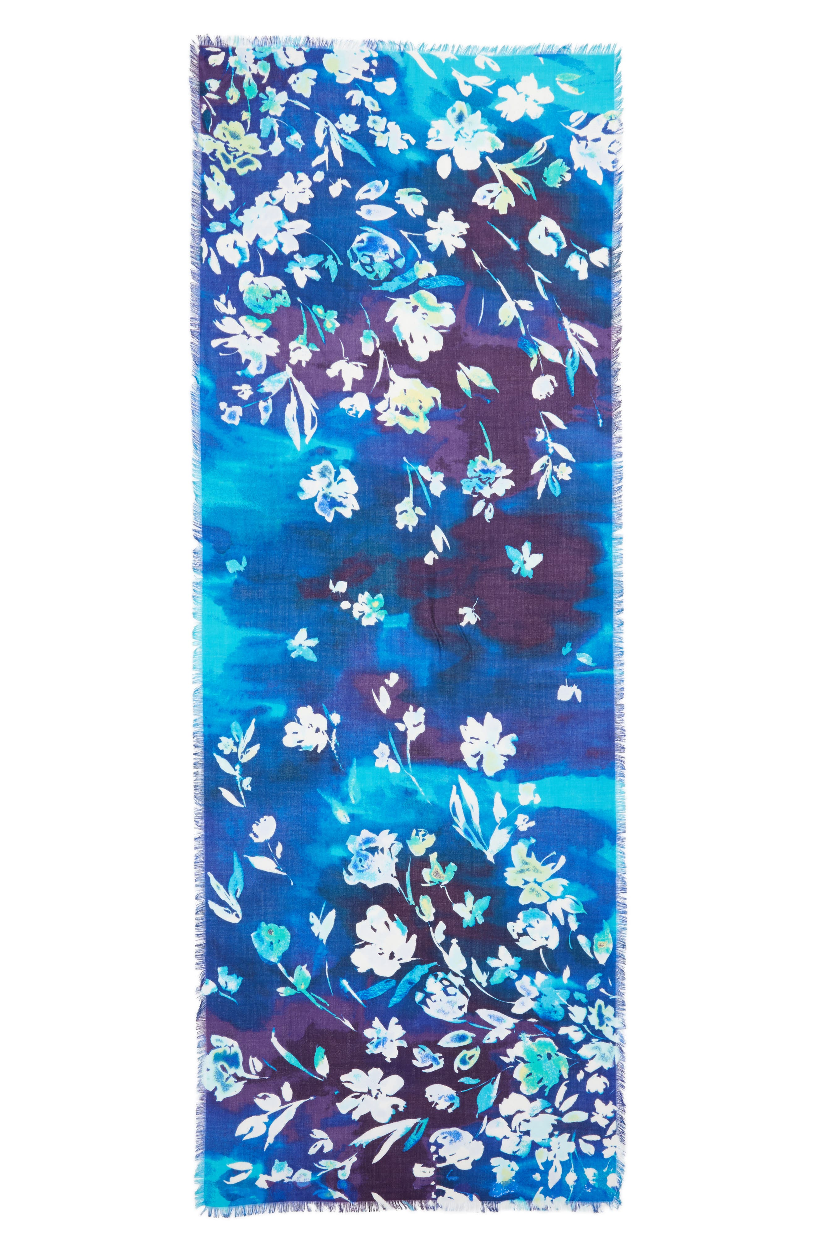Musical Flower Cashmere & Silk Scarf,                             Alternate thumbnail 7, color,