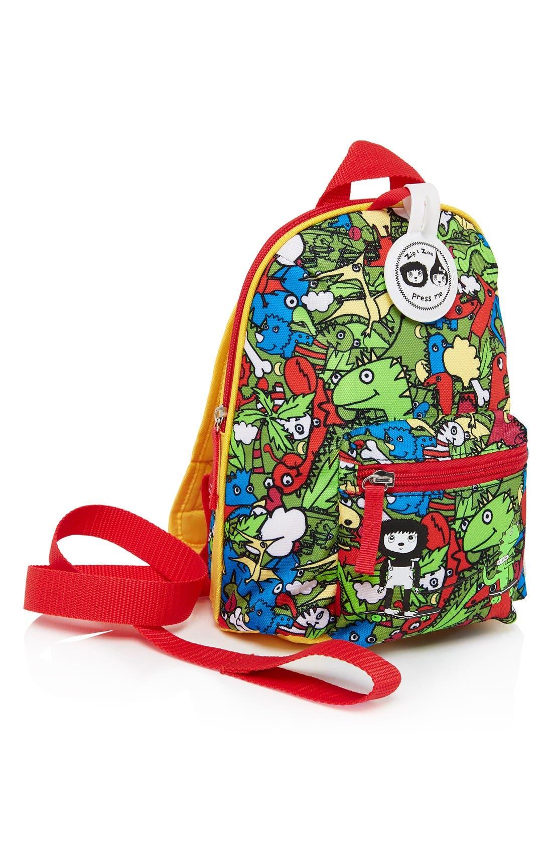 Graphic Mini Backpack,                             Alternate thumbnail 6, color,                             DINO MULTI
