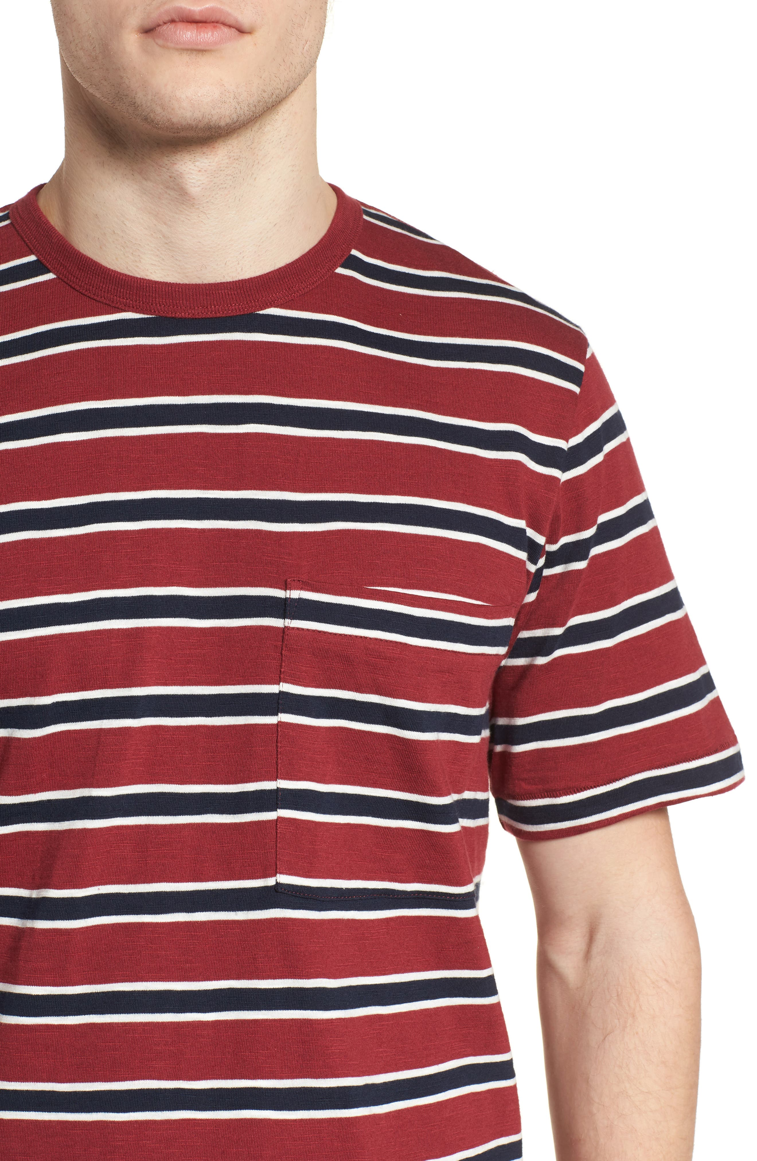 Old School Slim Fit Stripe T-Shirt,                             Alternate thumbnail 4, color,                             603