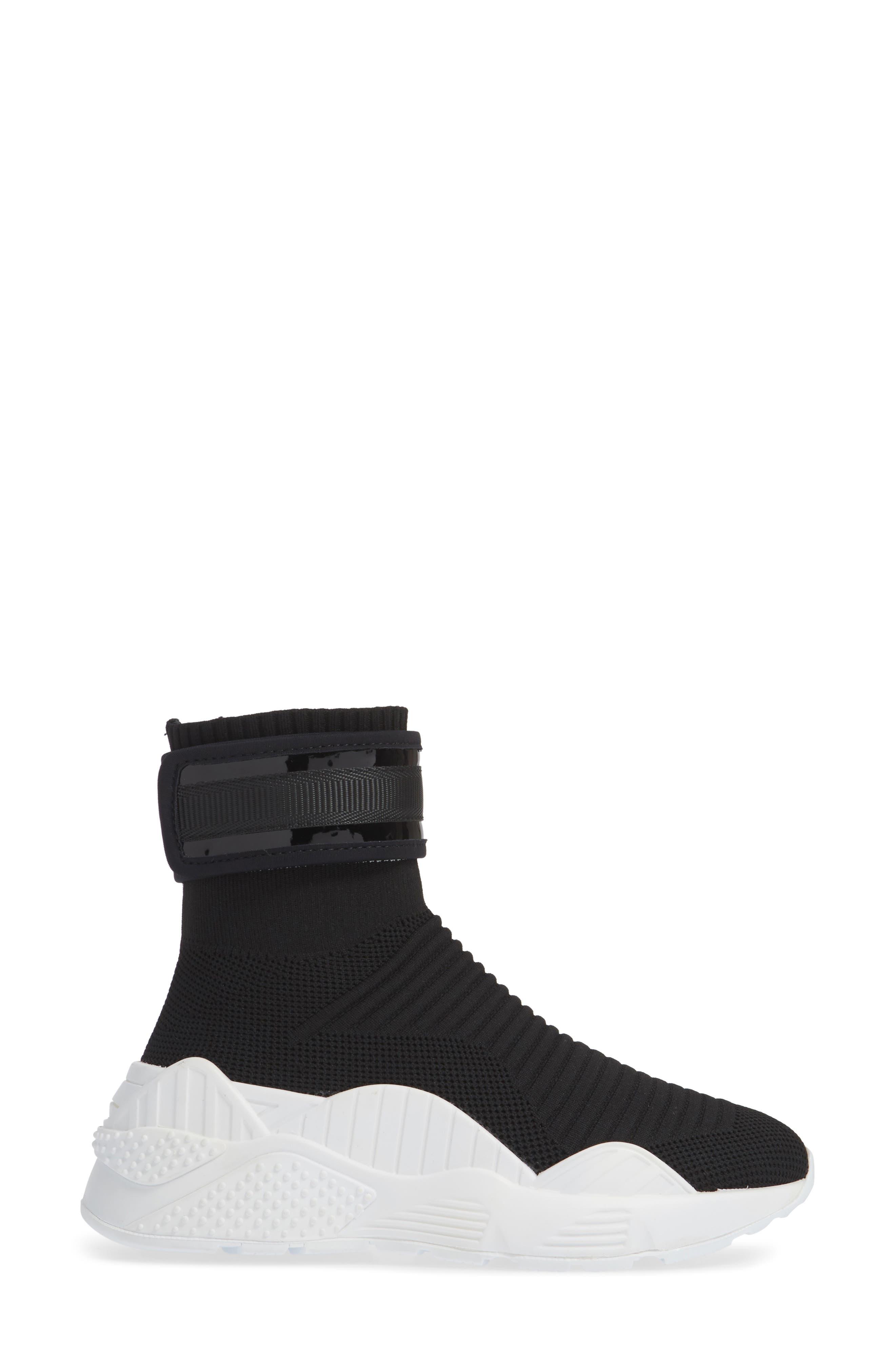 Interweb Cuff Knit Sneaker,                             Alternate thumbnail 3, color,                             014