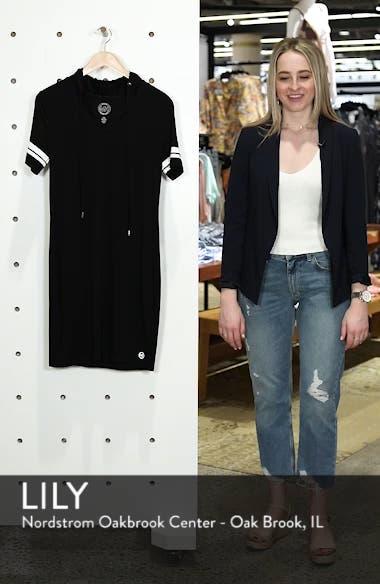 MICHAEL Michal Kors Stripe Sleeve Hoodie Dress, sales video thumbnail