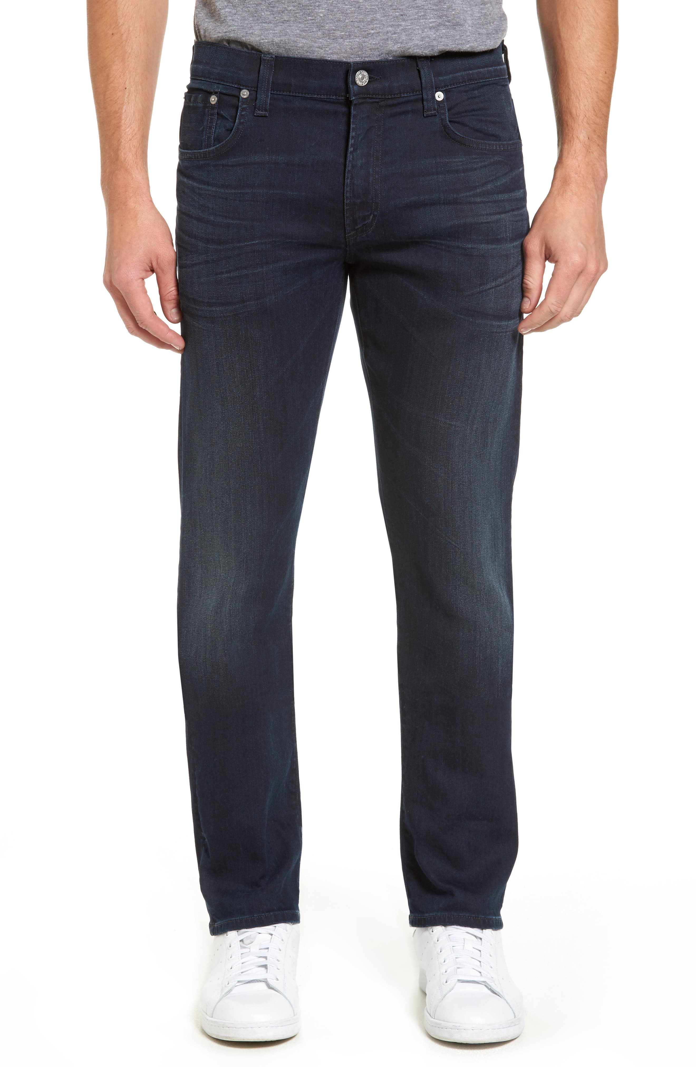 Core Slim Straight Leg Jeans,                             Main thumbnail 1, color,                             DURANT