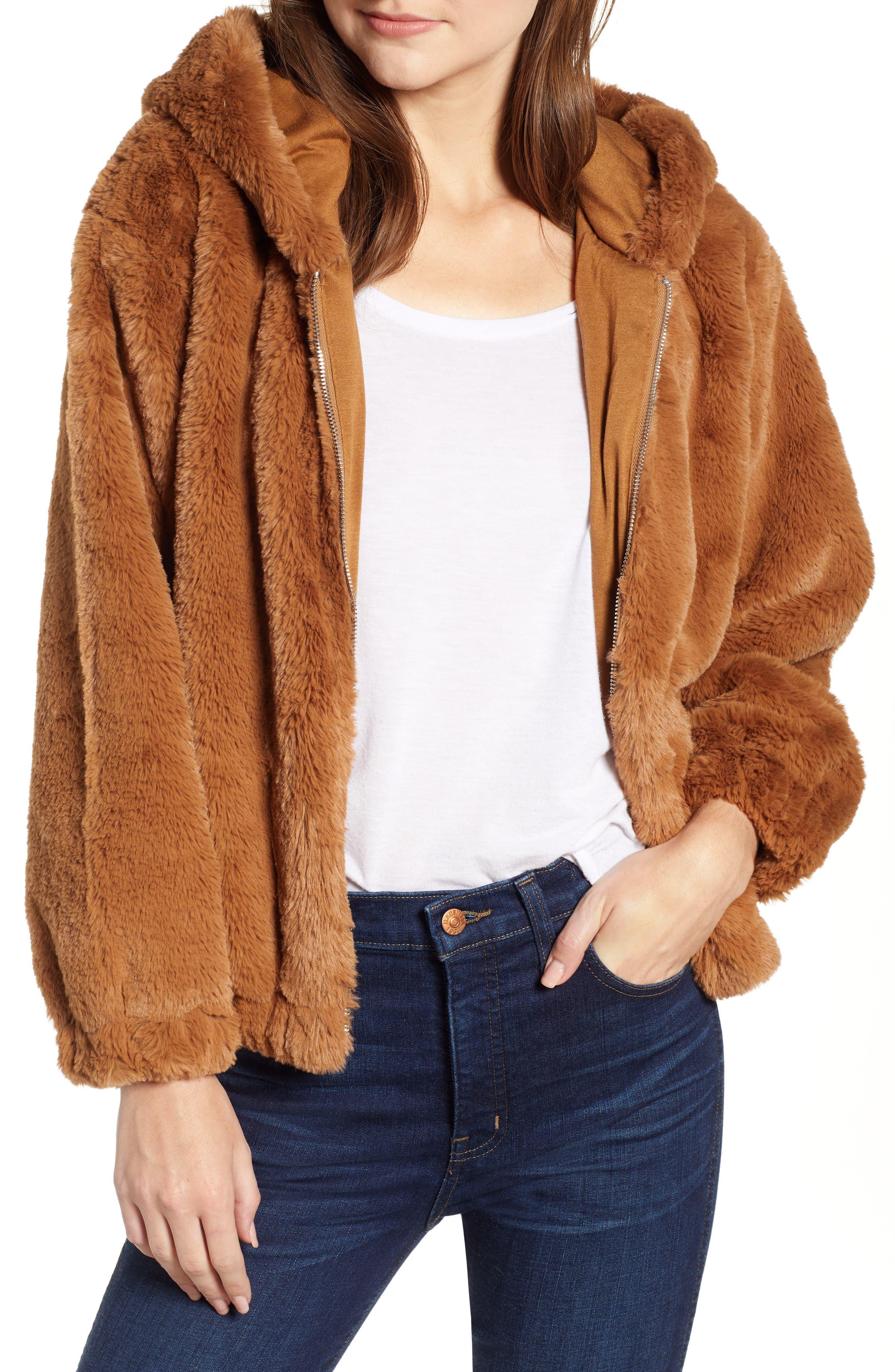 Arabella Faux Shearling Jacket, Main, color, 200