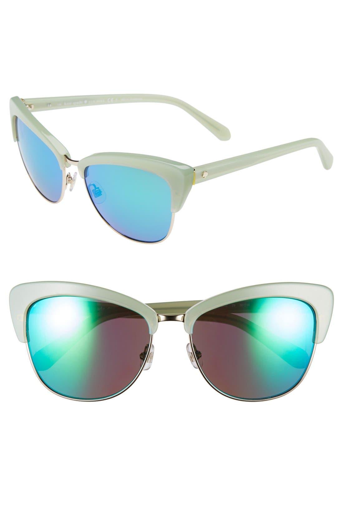 'genette' 56mm cat eye sunglasses,                         Main,                         color, 300