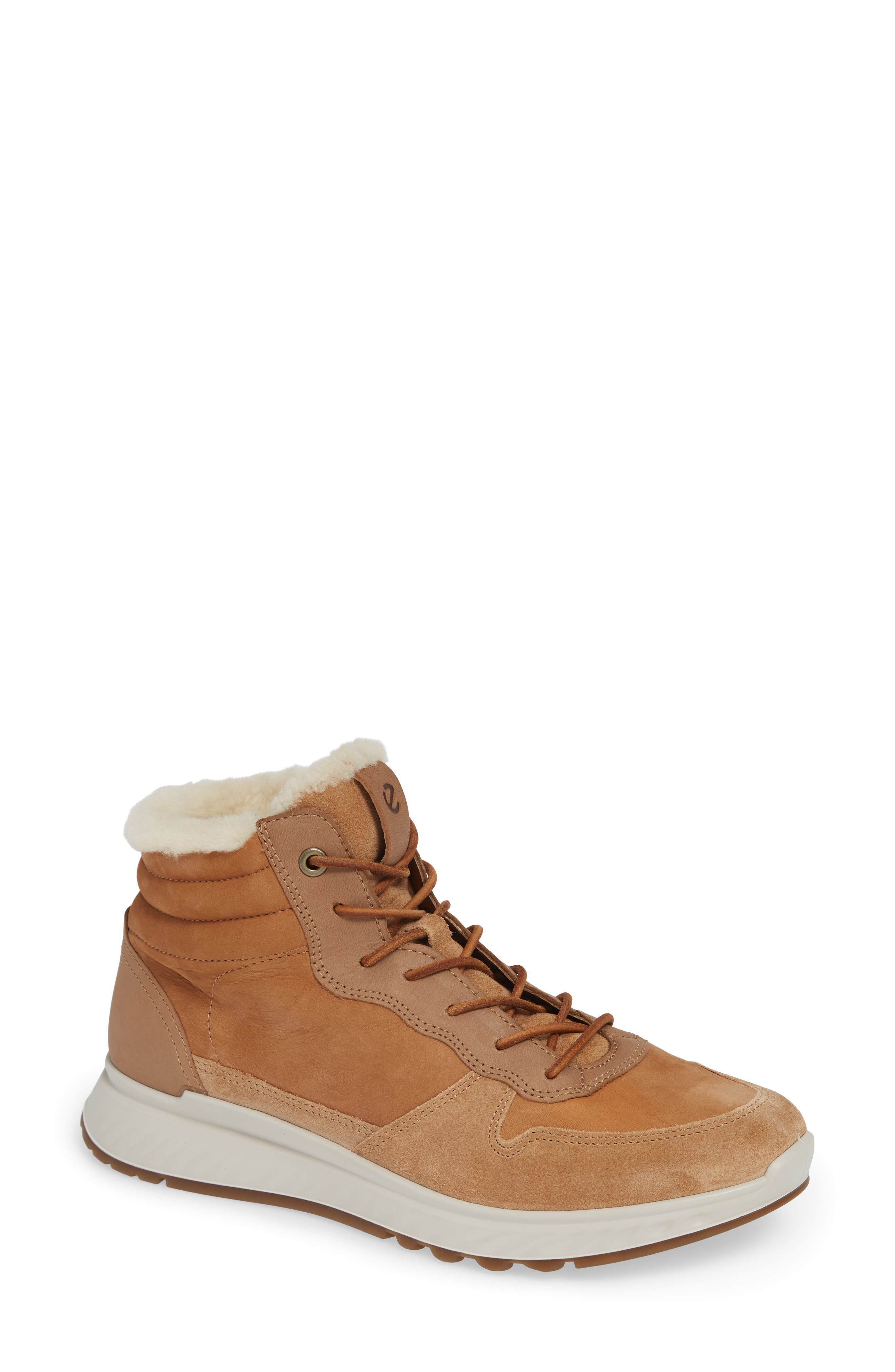 ST1 Genuine Shearling High Top Sneaker,                         Main,                         color, 200