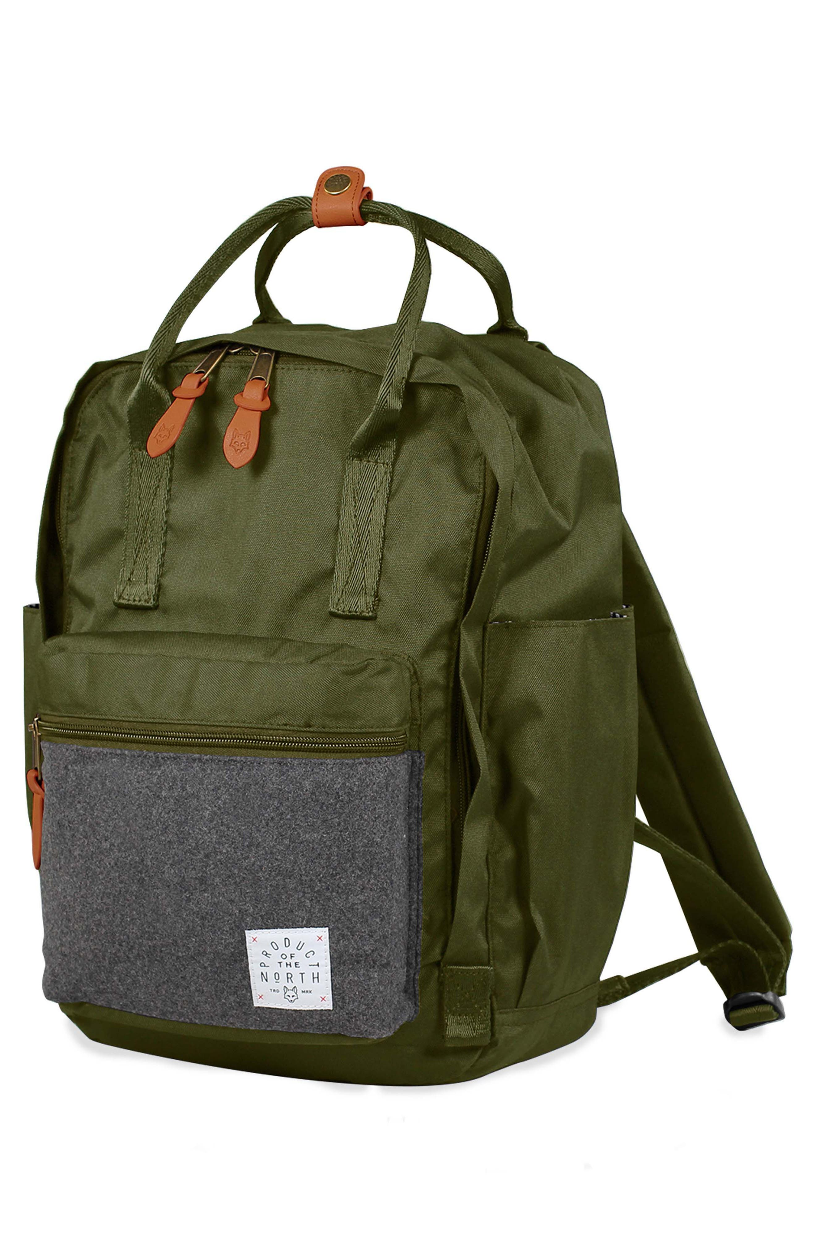 PRODUCT OF THE NORTH,                             Elkin Diaper Backpack,                             Alternate thumbnail 5, color,                             OLIVE