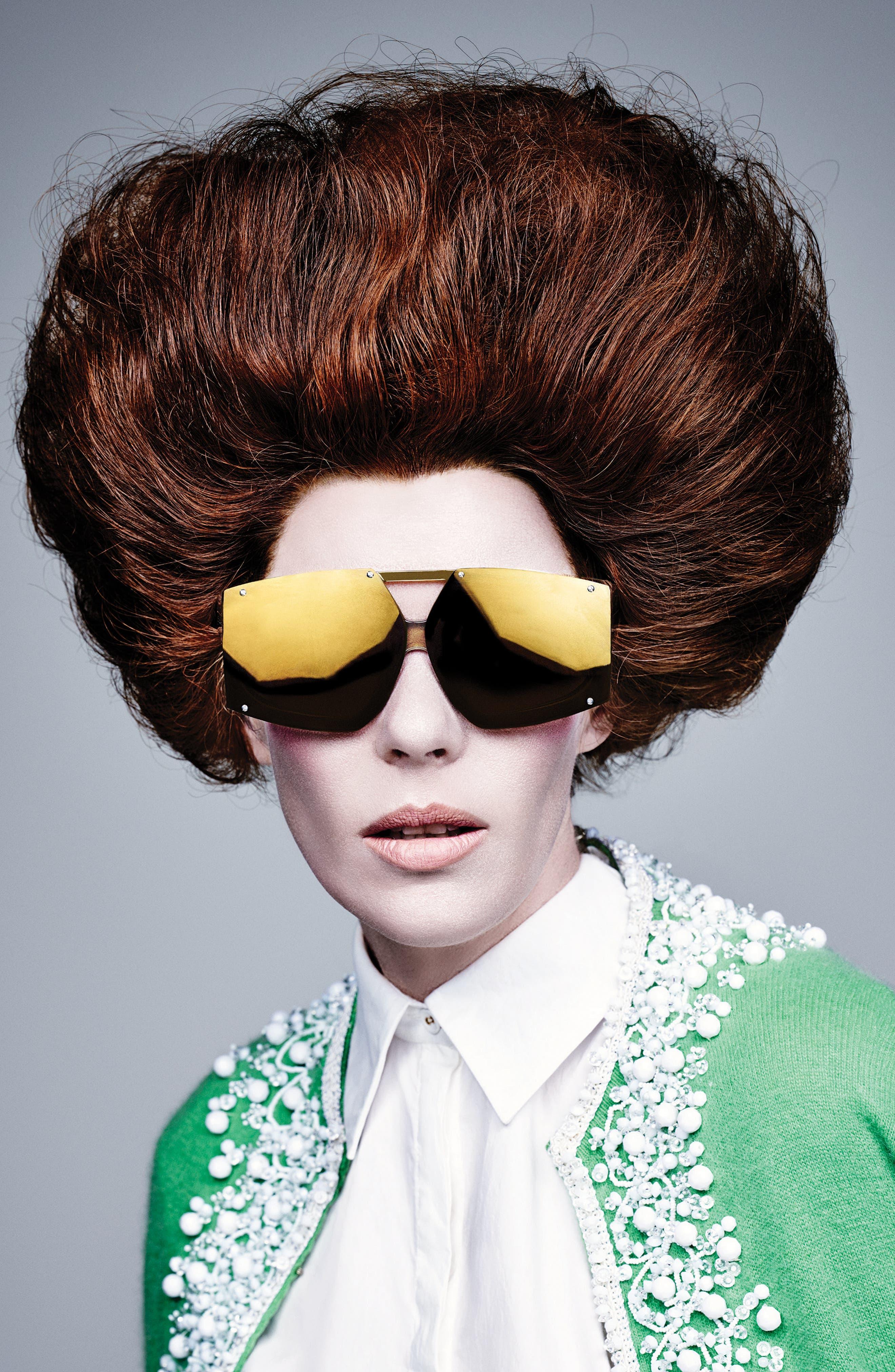 70mm Mirrored Oversized Sunglasses,                             Alternate thumbnail 7, color,