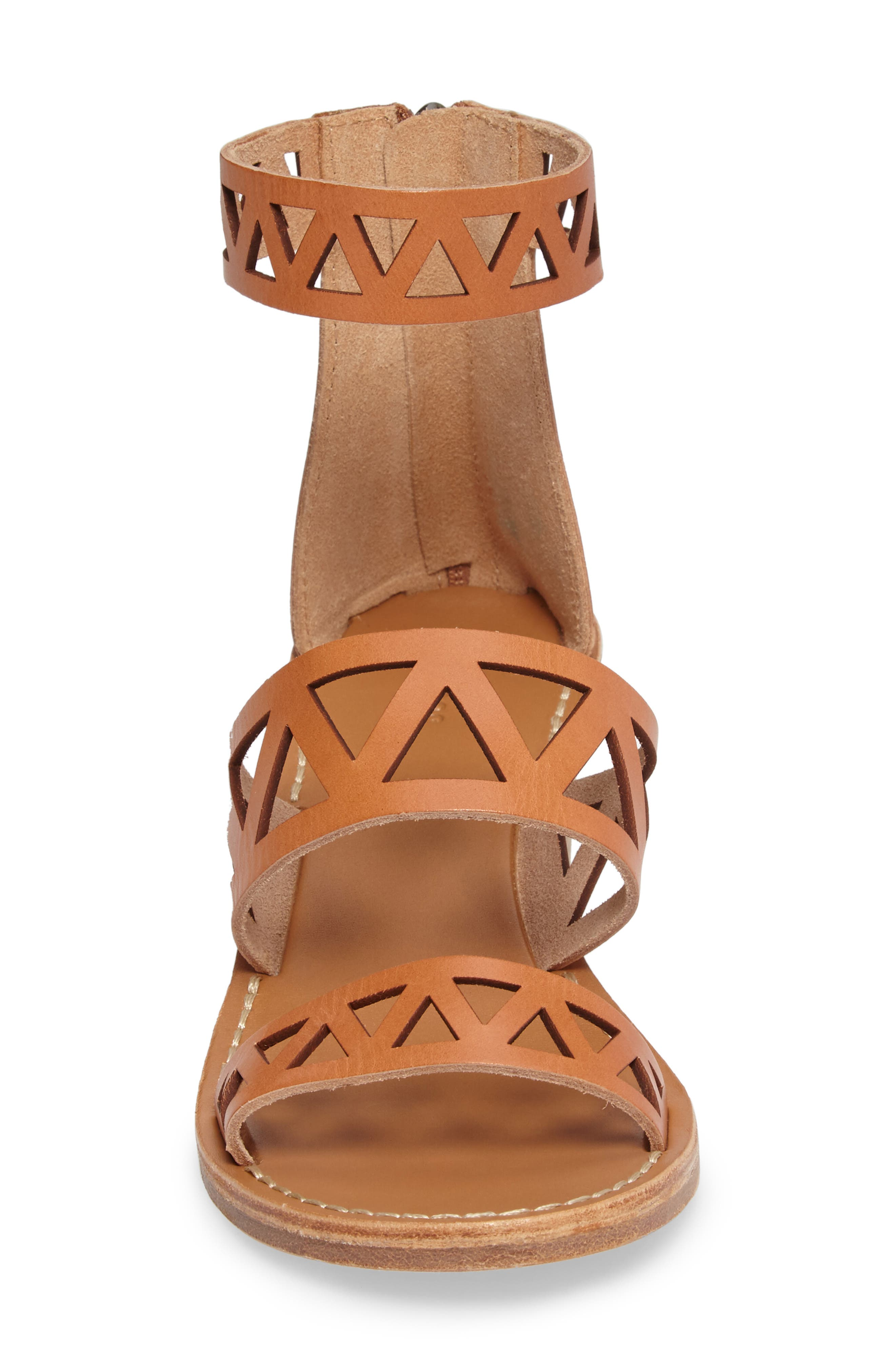 Perforated Ankle Strap Sandal,                             Alternate thumbnail 4, color,                             200
