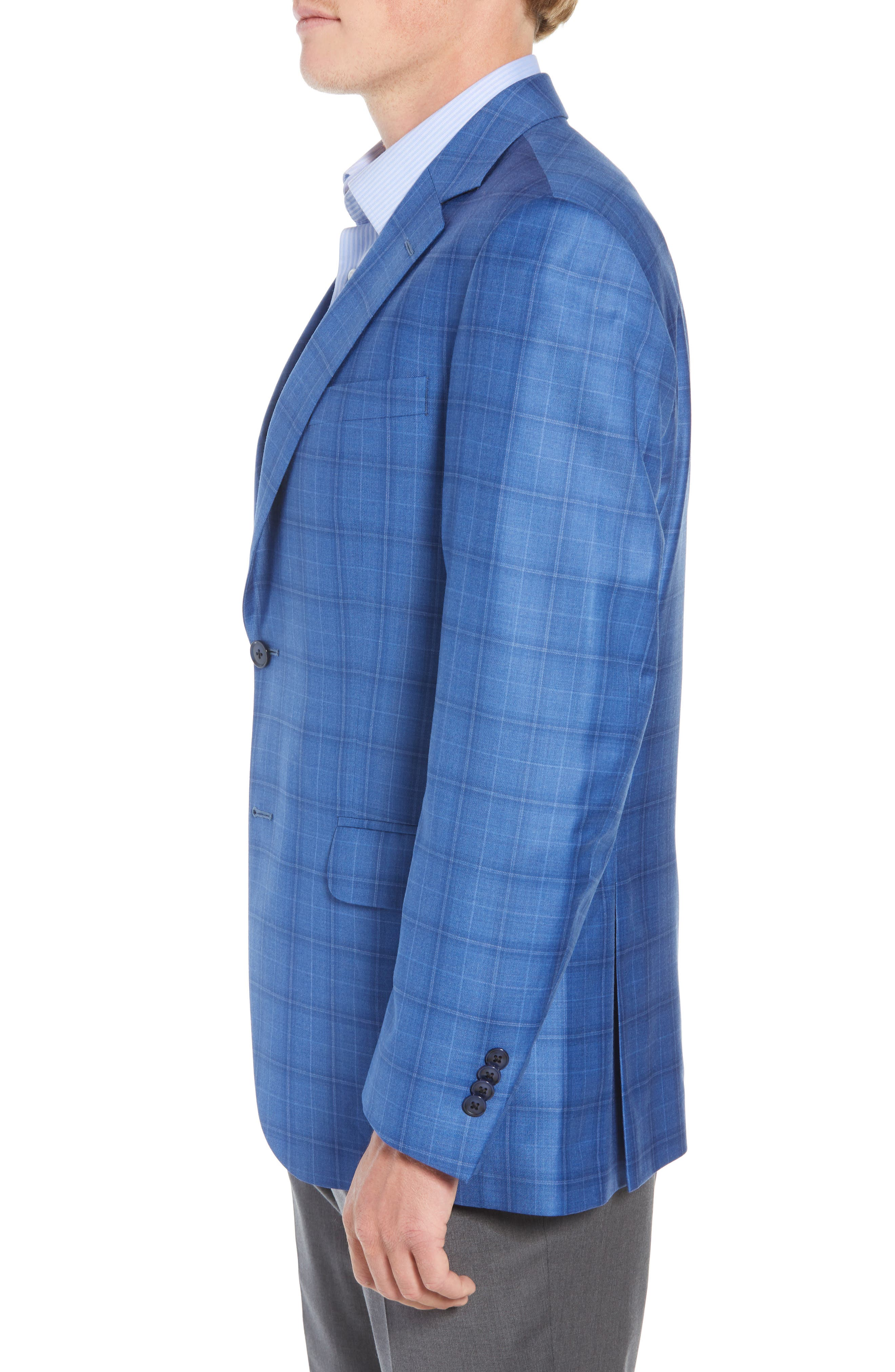 Flynn Classic Fit Wool Sport Coat,                             Alternate thumbnail 3, color,                             BLUE