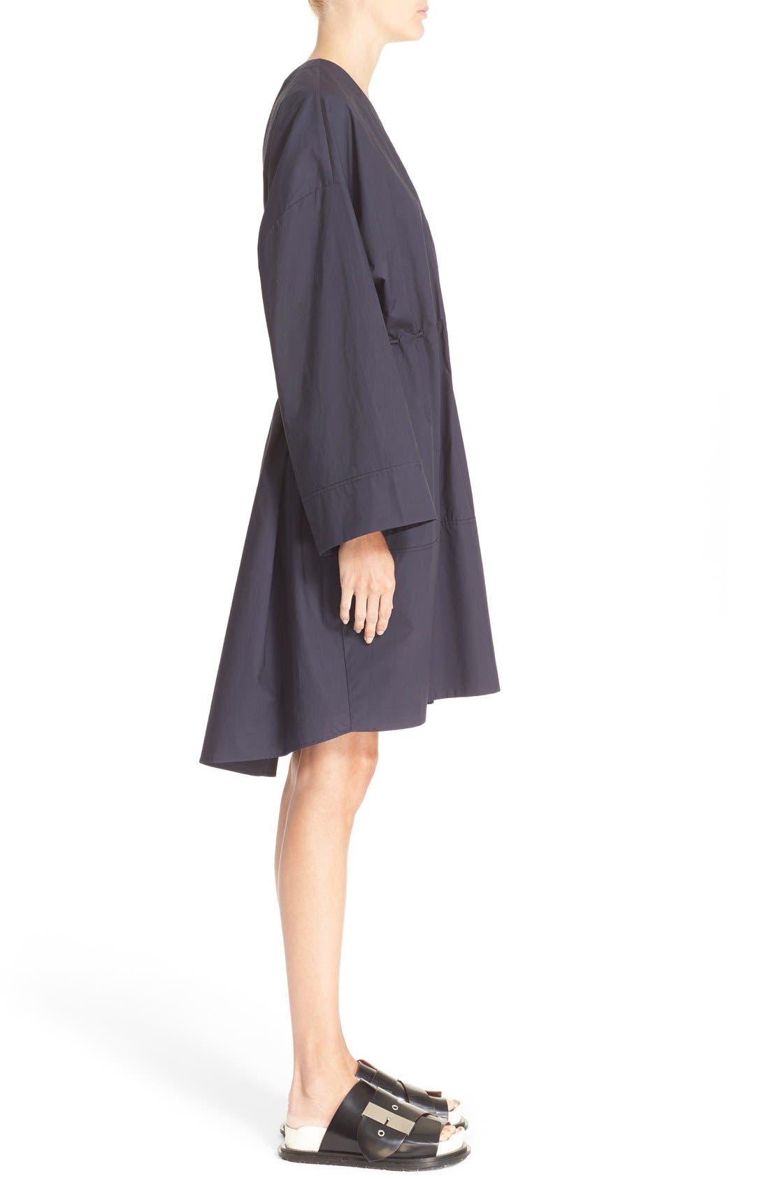 Calida Cotton Drawstring Dress,                             Alternate thumbnail 4, color,                             001