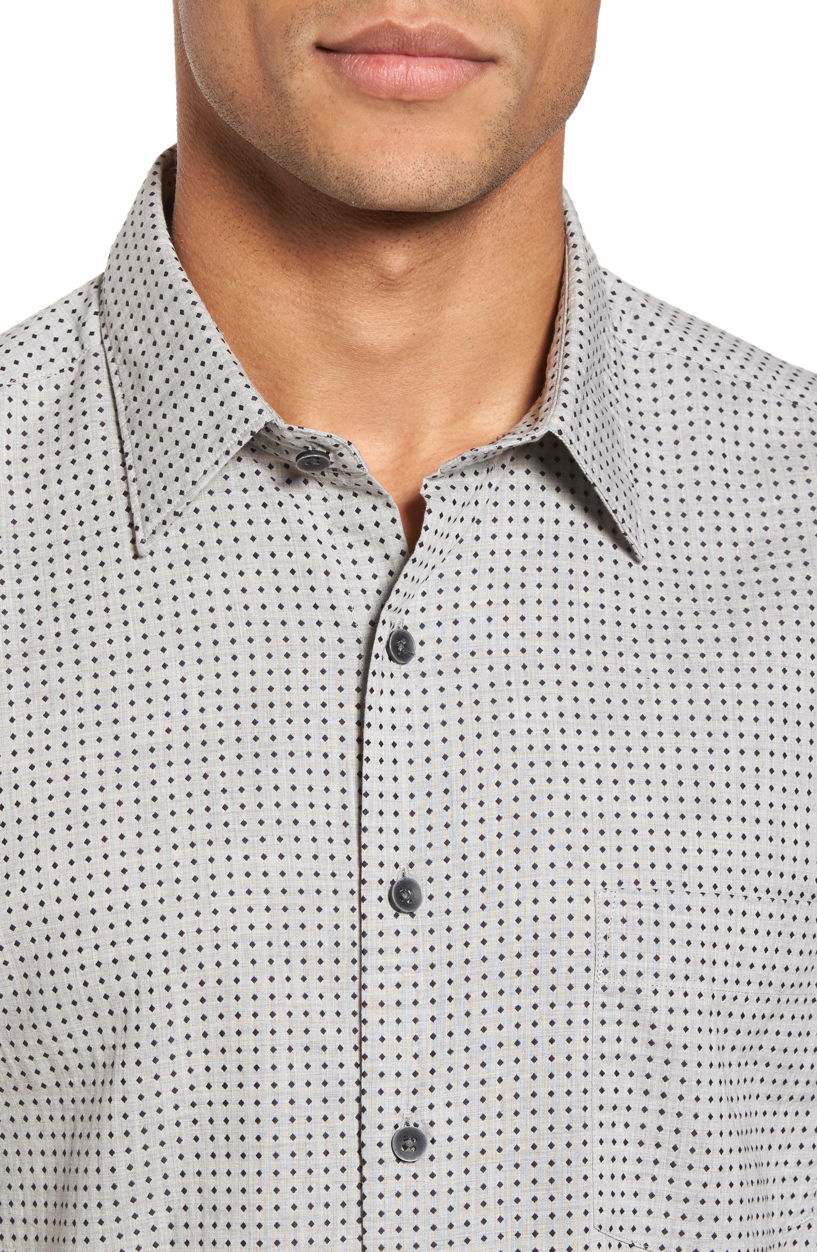 Judgeford Slim Fit Jacquard Sport Shirt,                             Alternate thumbnail 4, color,