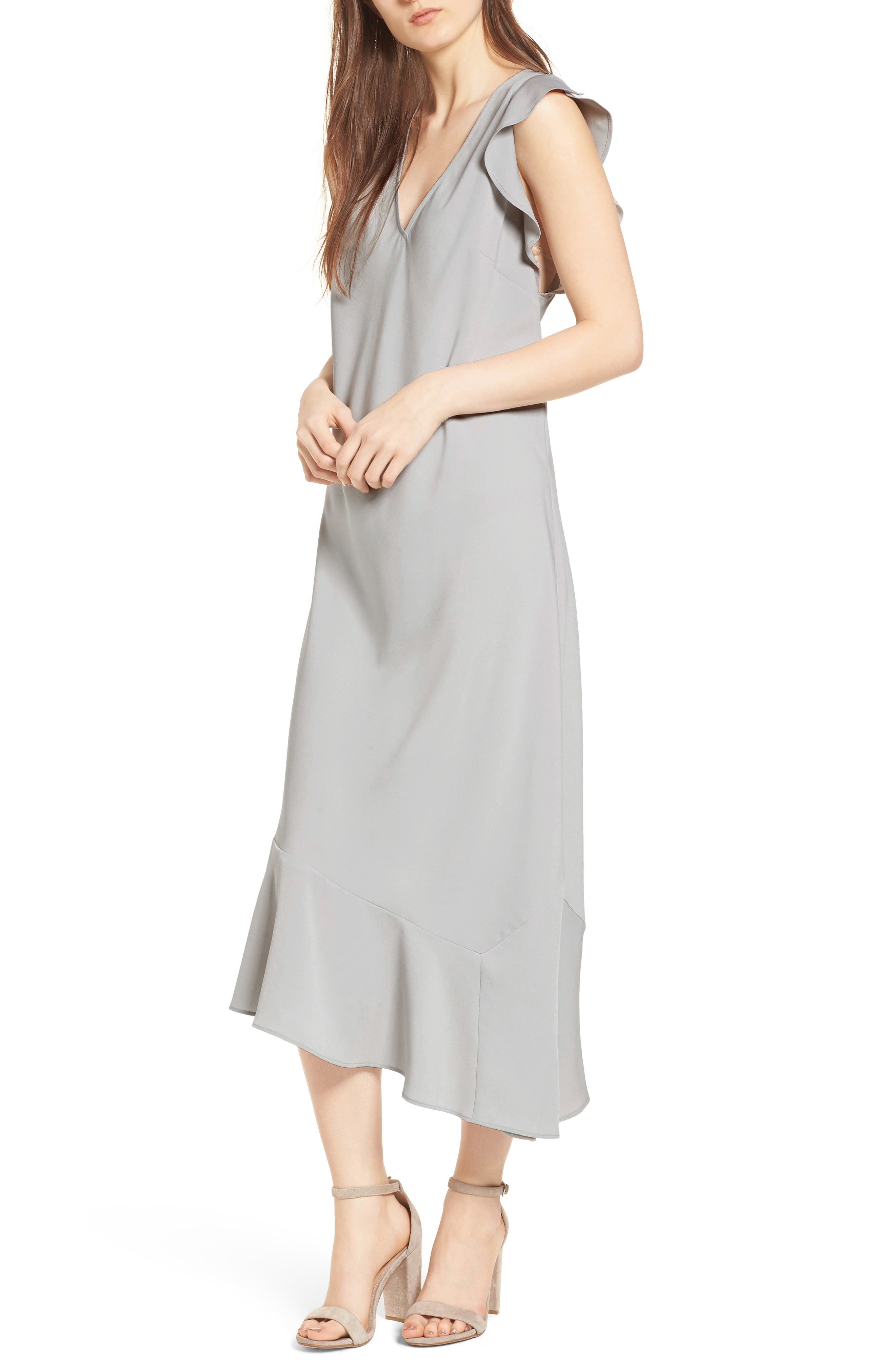 Bias Cut Asymmetrical Dress,                         Main,                         color,