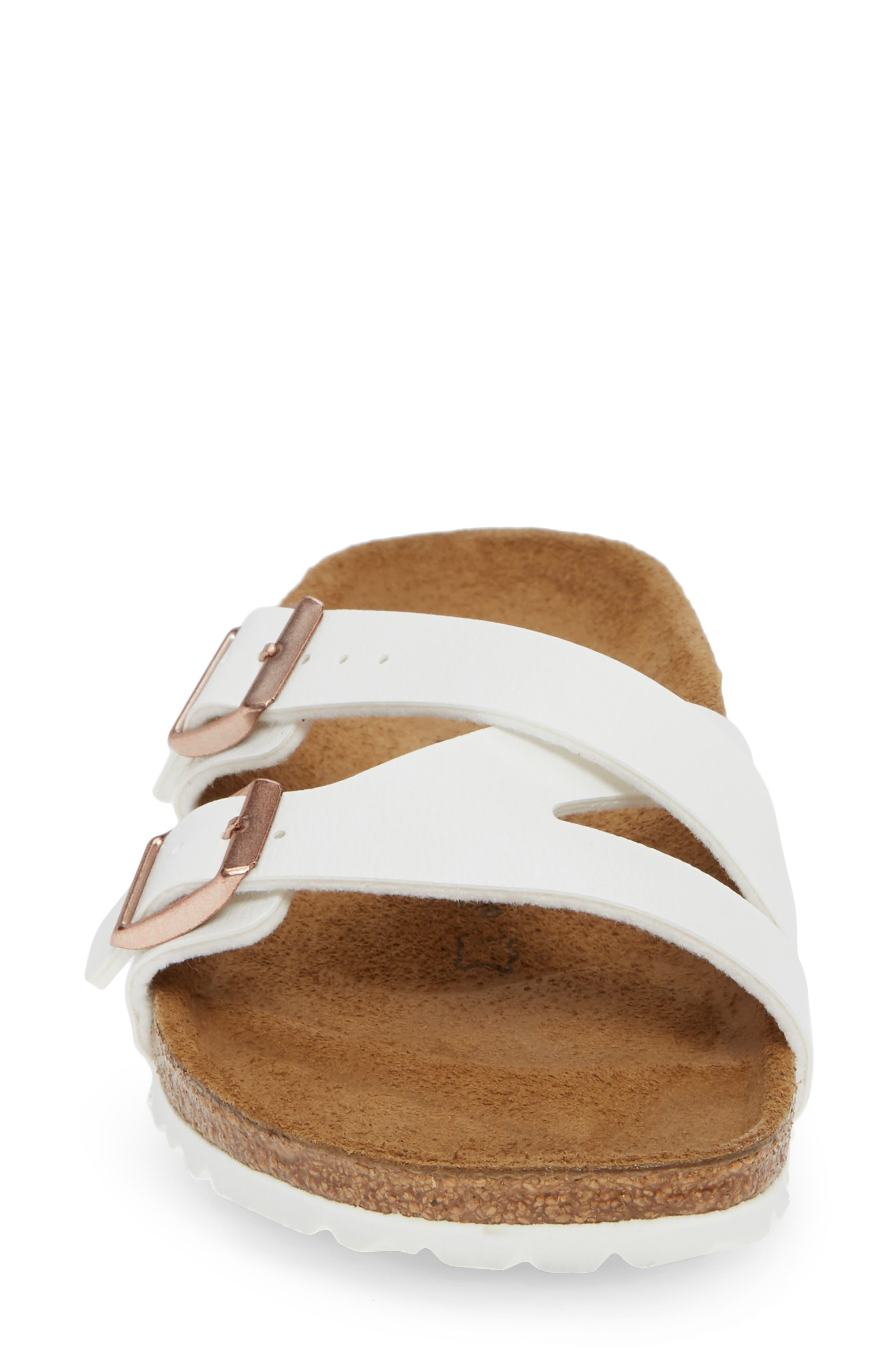 BIRKENSTOCK,                             Yao Slide Sandal,                             Alternate thumbnail 4, color,                             WHITE