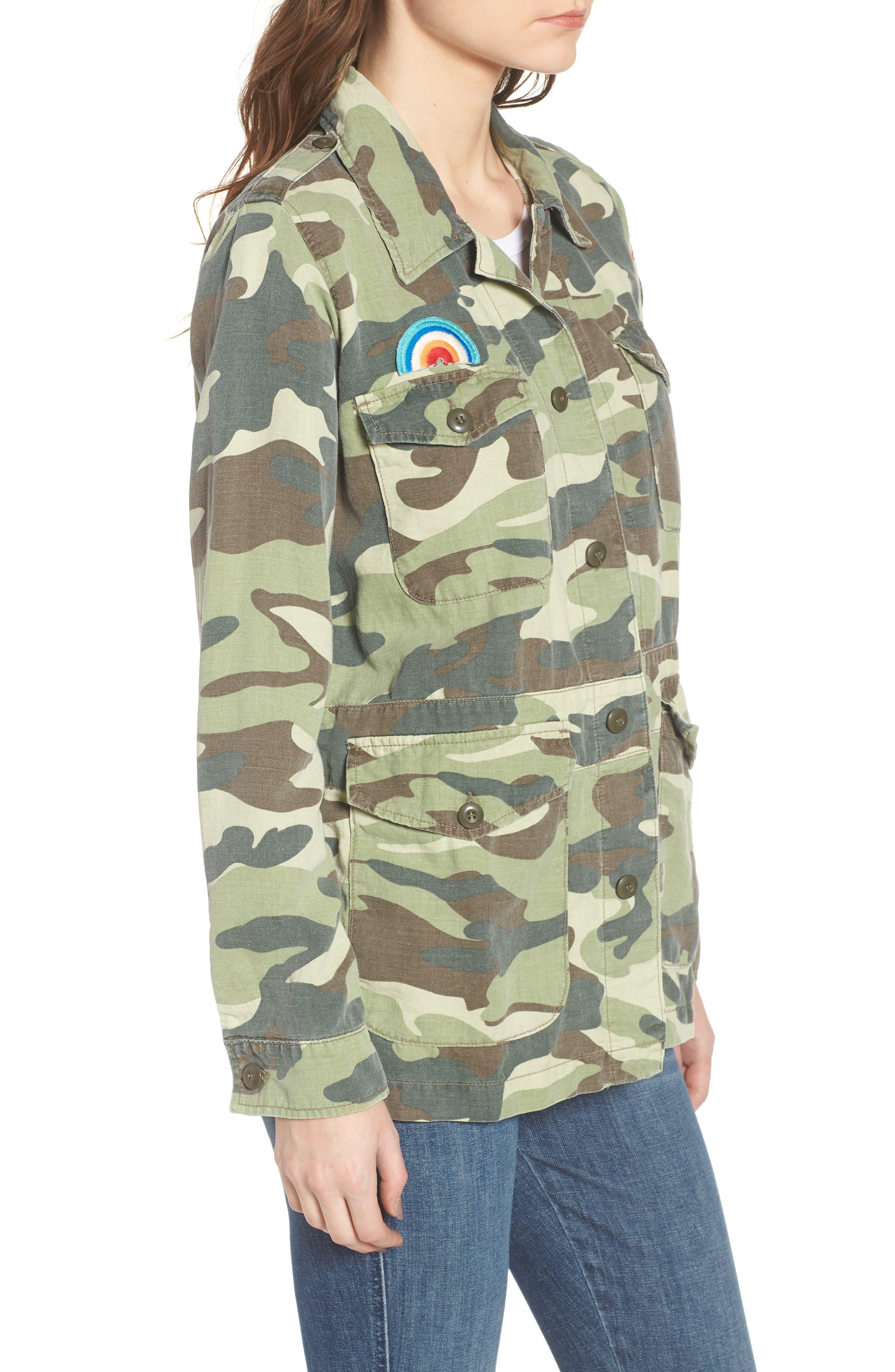 The Loose Veteran Camo Jacket,                             Alternate thumbnail 3, color,                             315
