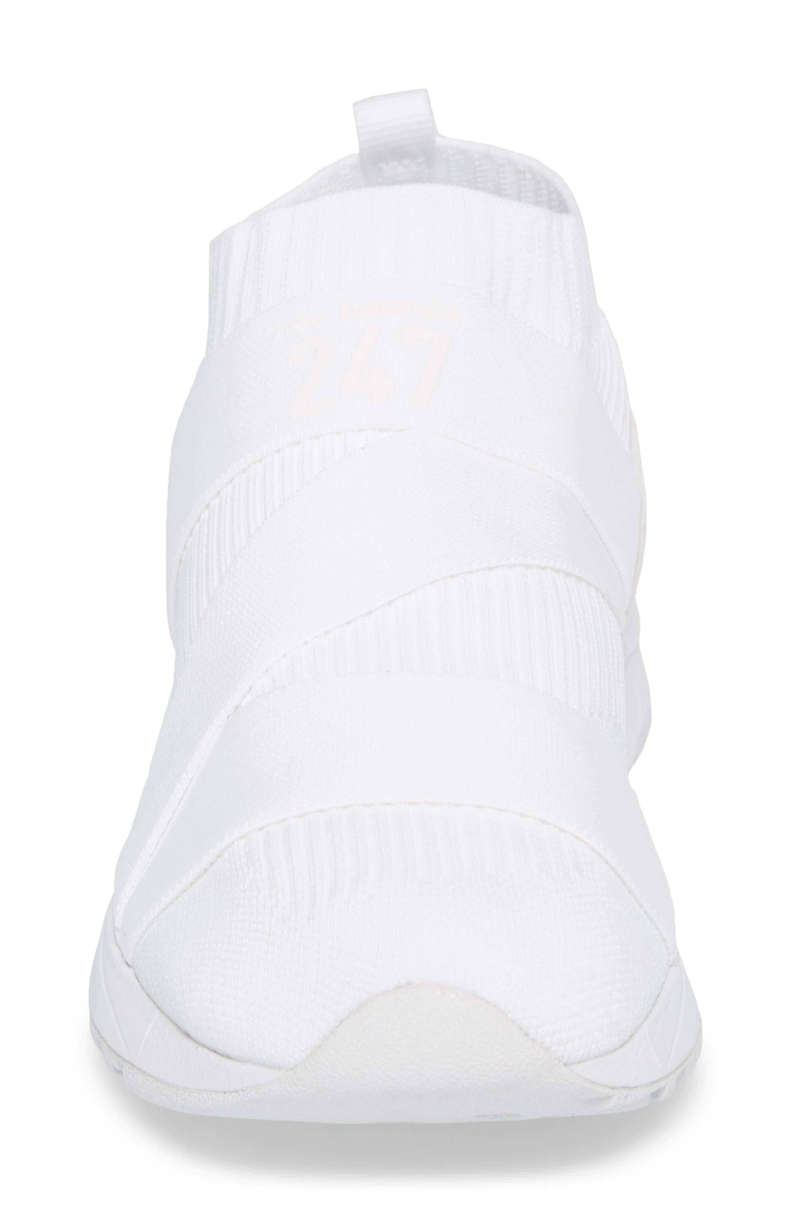 247 Knit Sneaker,                             Alternate thumbnail 4, color,                             WHITE