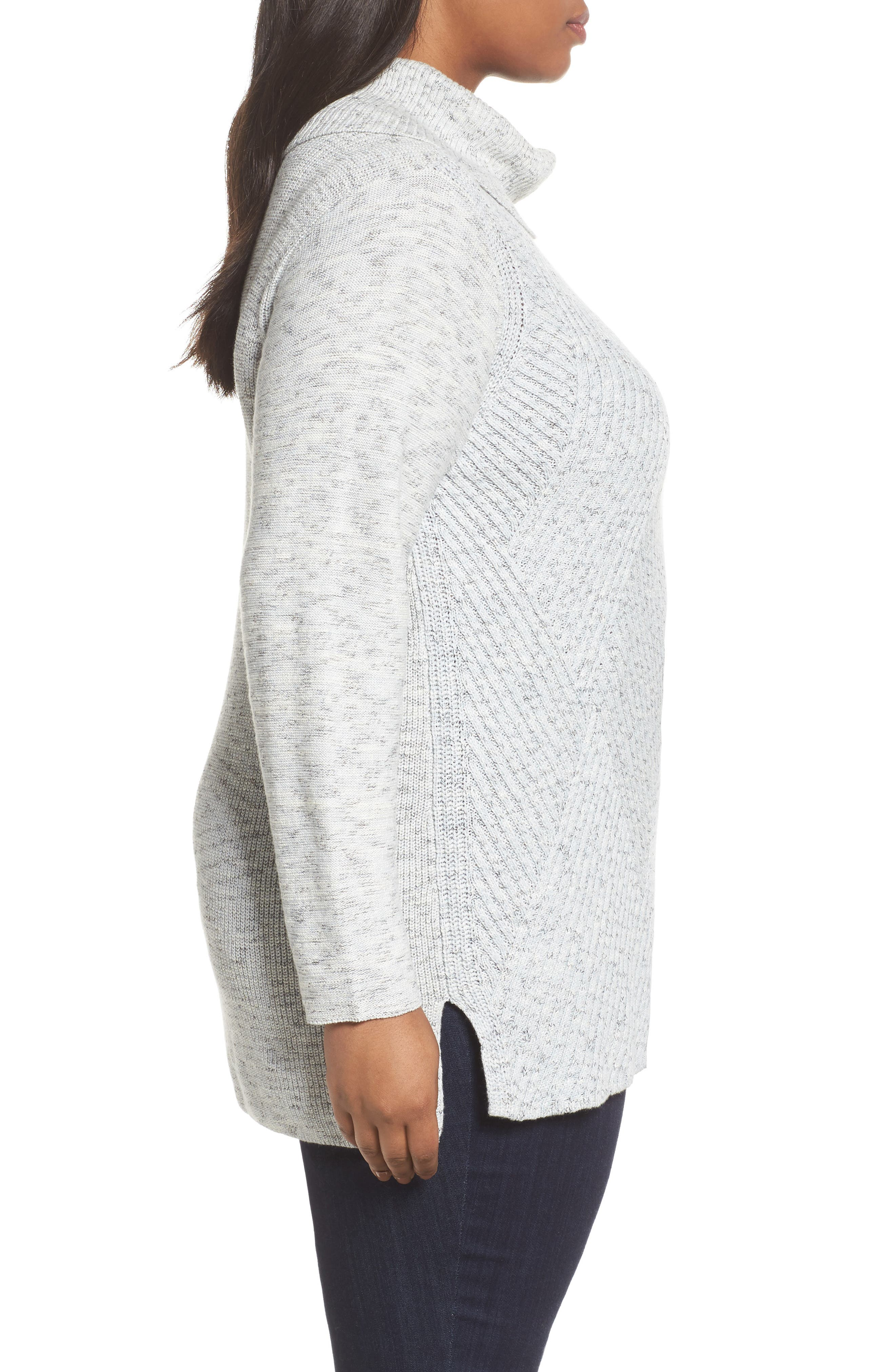 North Star Turtleneck Tunic,                             Alternate thumbnail 3, color,