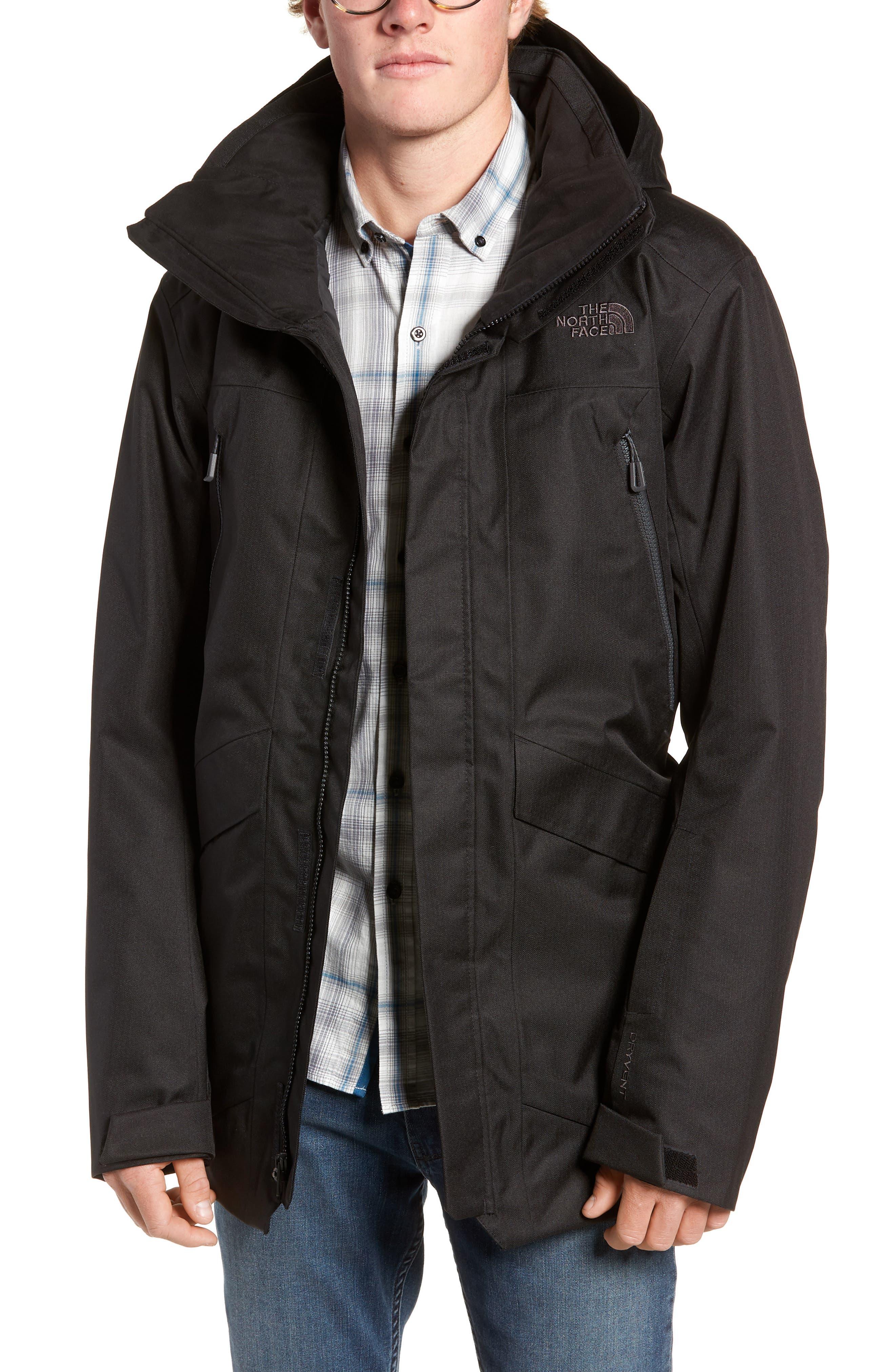 Gatekeeper Waterproof Jacket,                             Main thumbnail 1, color,                             TNF BLACK/TNF BLACK