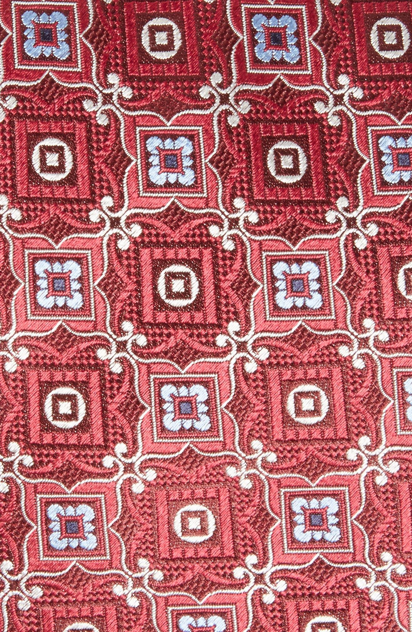 Medallion Silk Tie,                             Alternate thumbnail 2, color,                             620