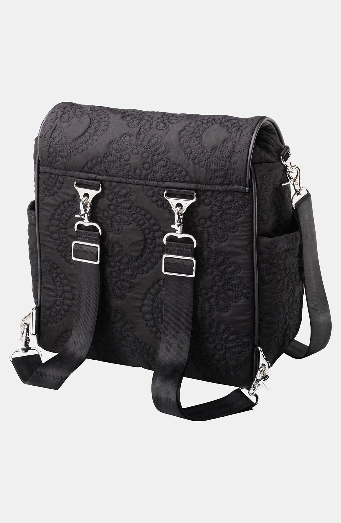 PETUNIA PICKLE BOTTOM,                             'Embossed Boxy' Magnetic Closure Backpack Diaper Bag,                             Alternate thumbnail 2, color,                             001