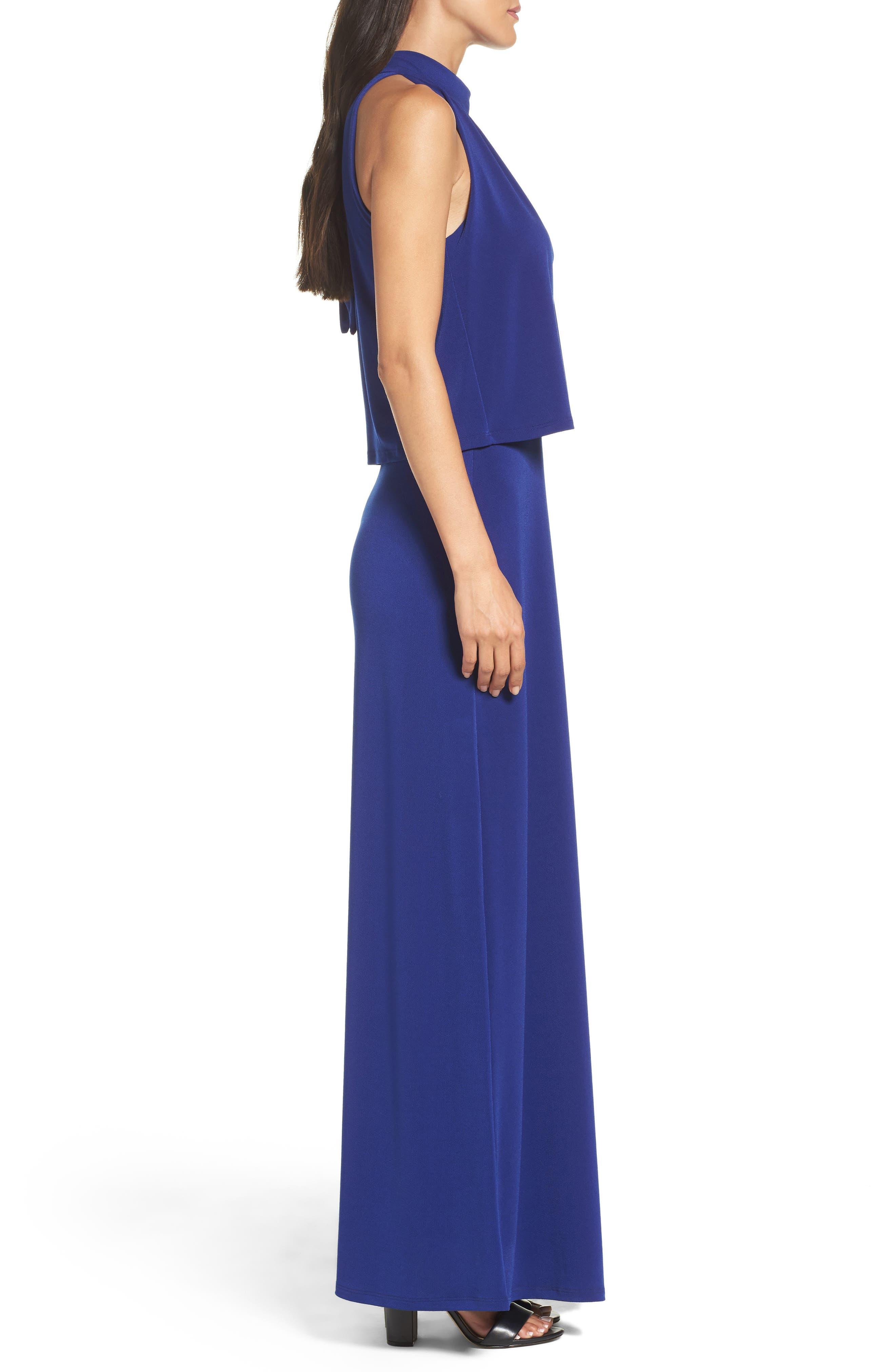 'Syler' Popover Jersey Maxi Dress,                             Alternate thumbnail 3, color,                             415
