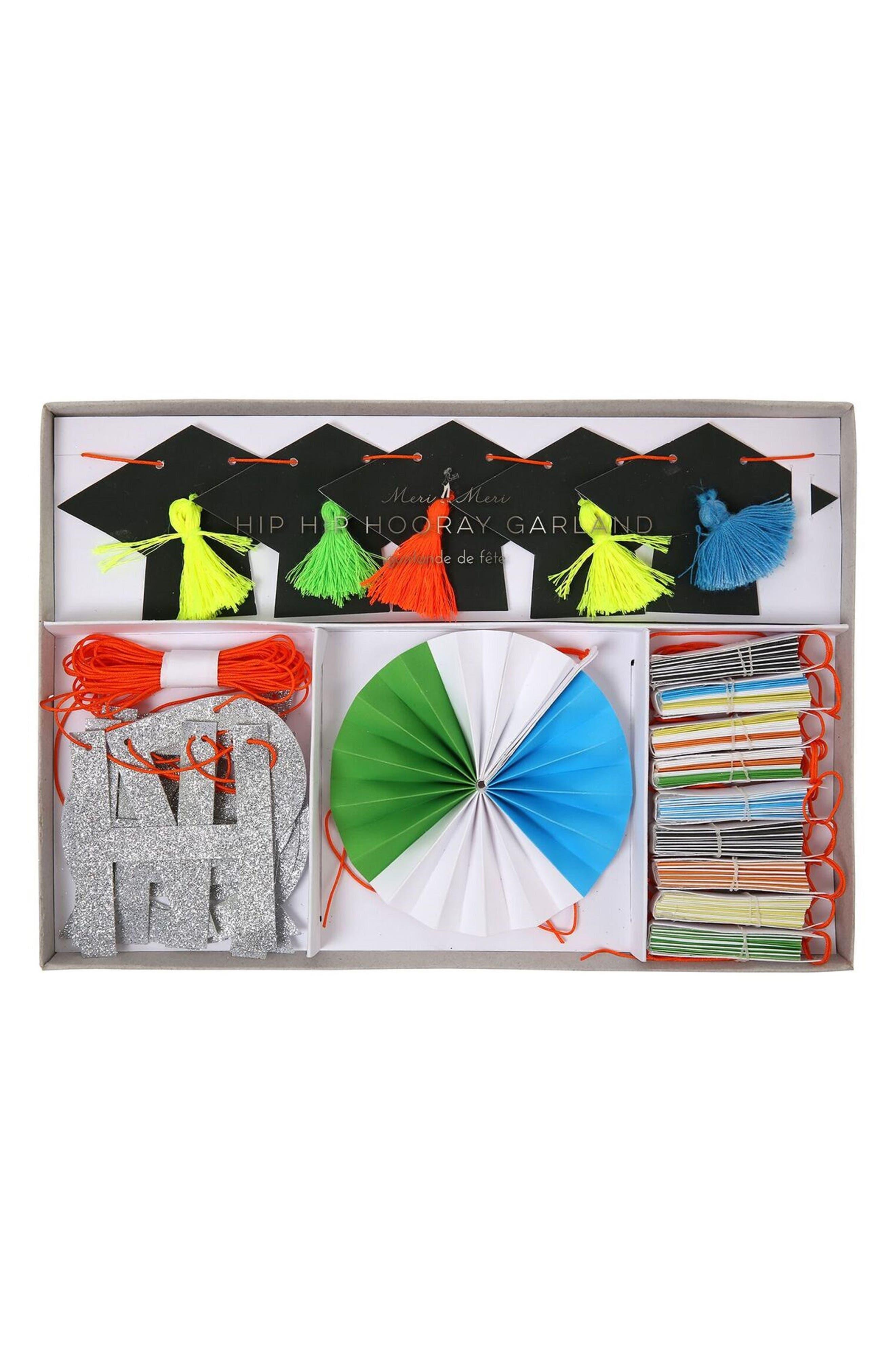 Hip Hip Hooray Graduation Party Garland Kit,                         Main,                         color,
