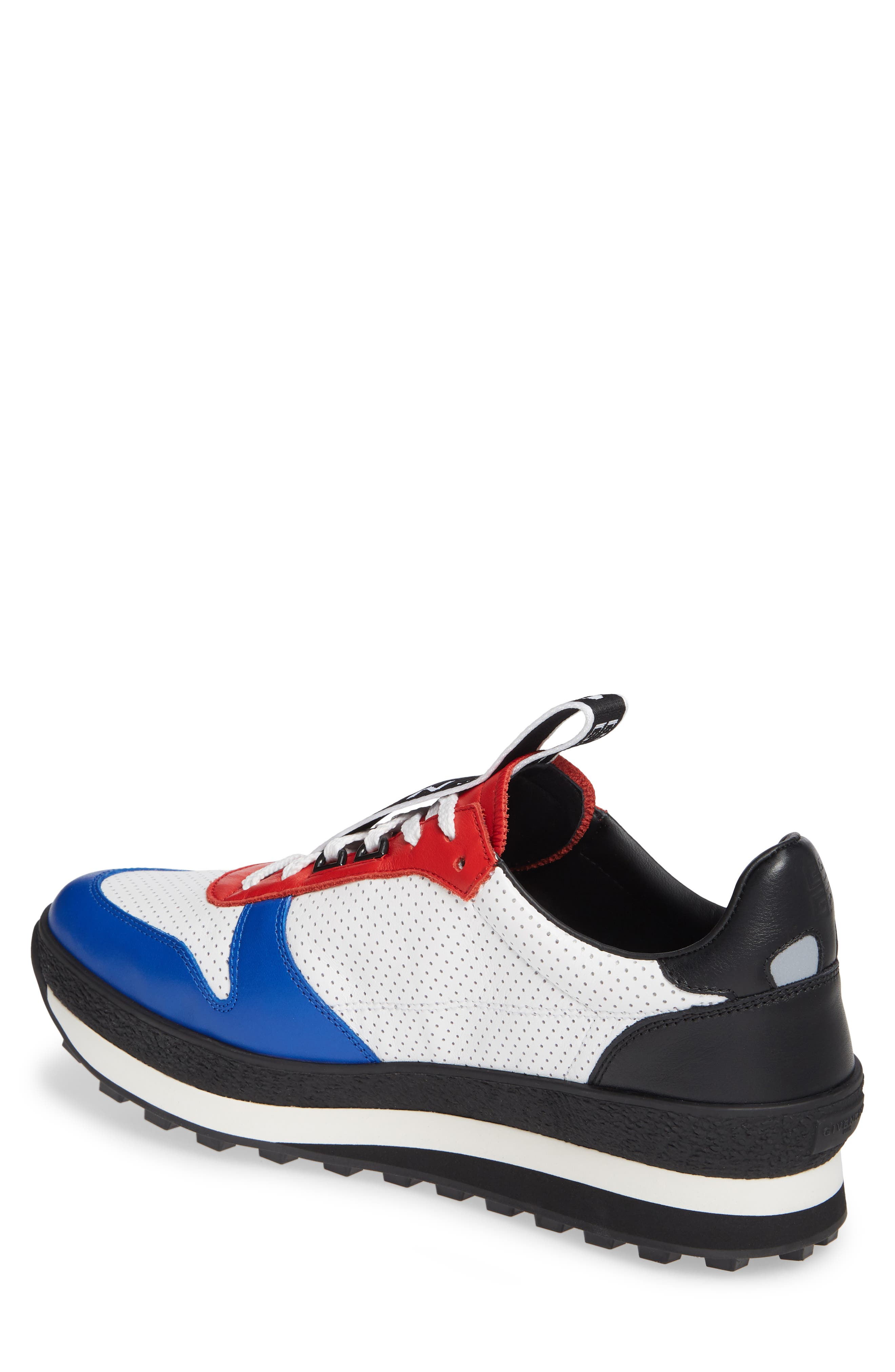 TR3 Low Runner Sneaker,                             Alternate thumbnail 2, color,                             WHITE/ RED/ BLACK