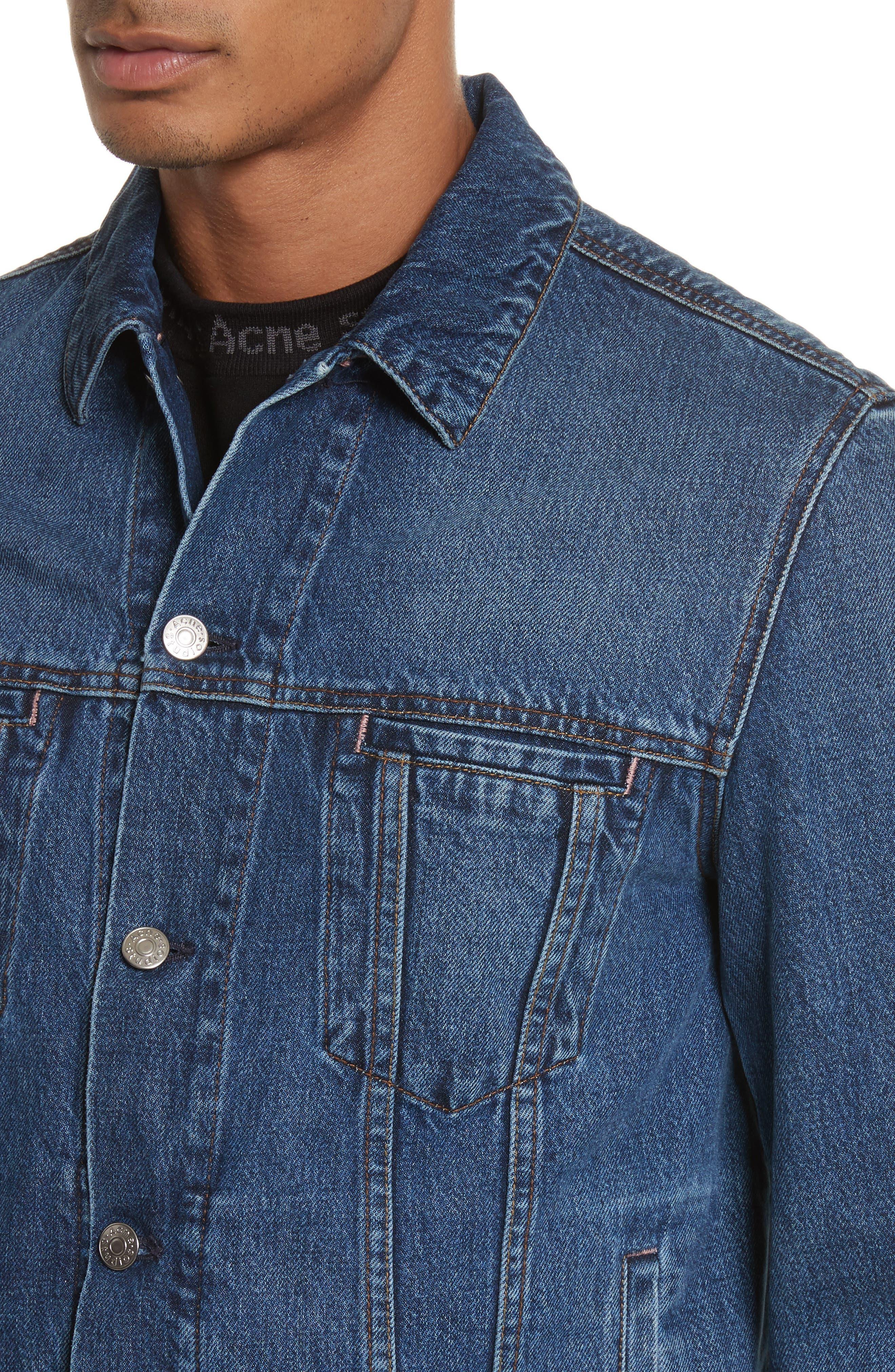 Denim Jacket,                             Alternate thumbnail 4, color,                             MID BLUE