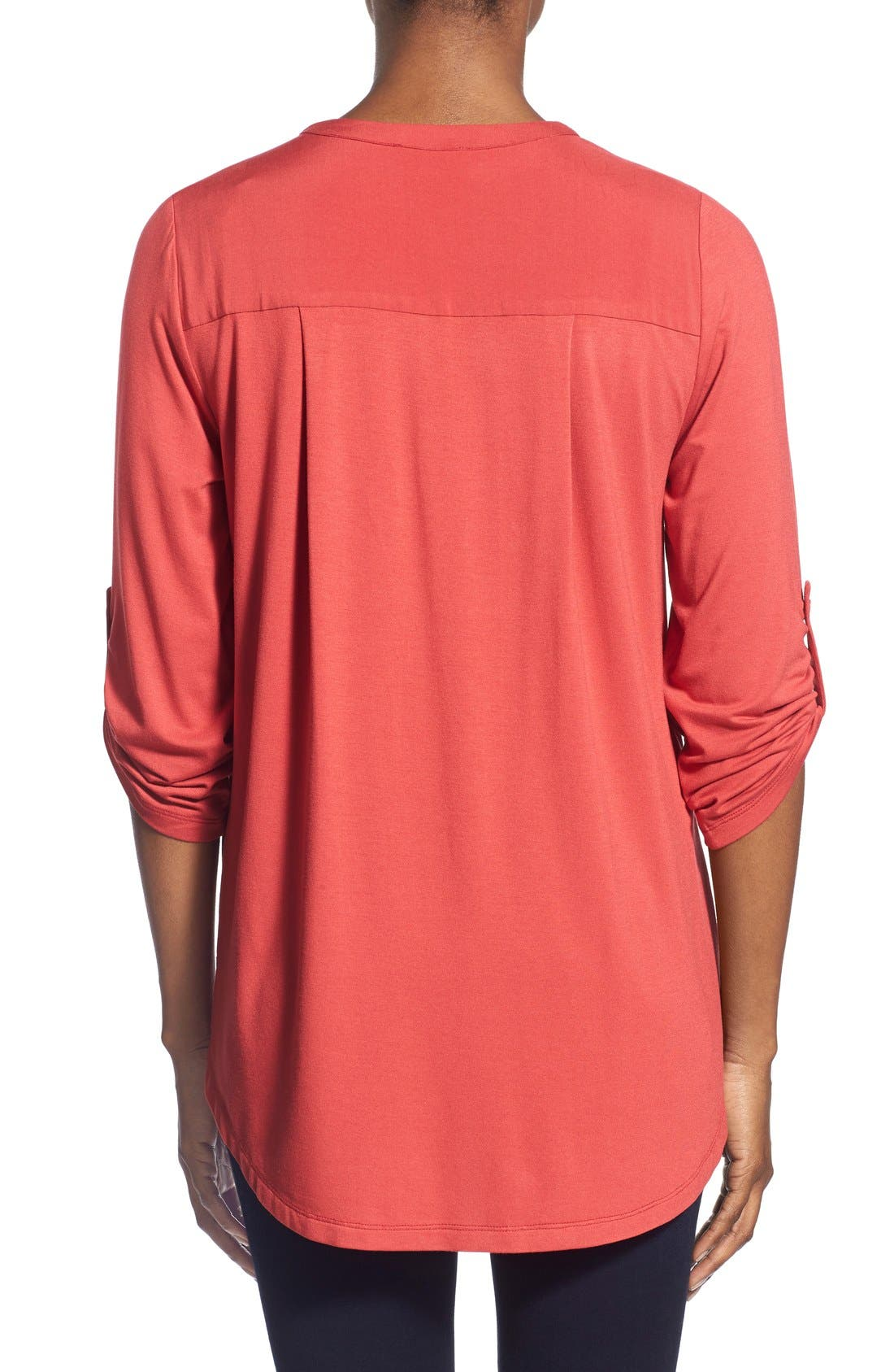 Mixed Media V-Neck Tunic,                             Alternate thumbnail 131, color,